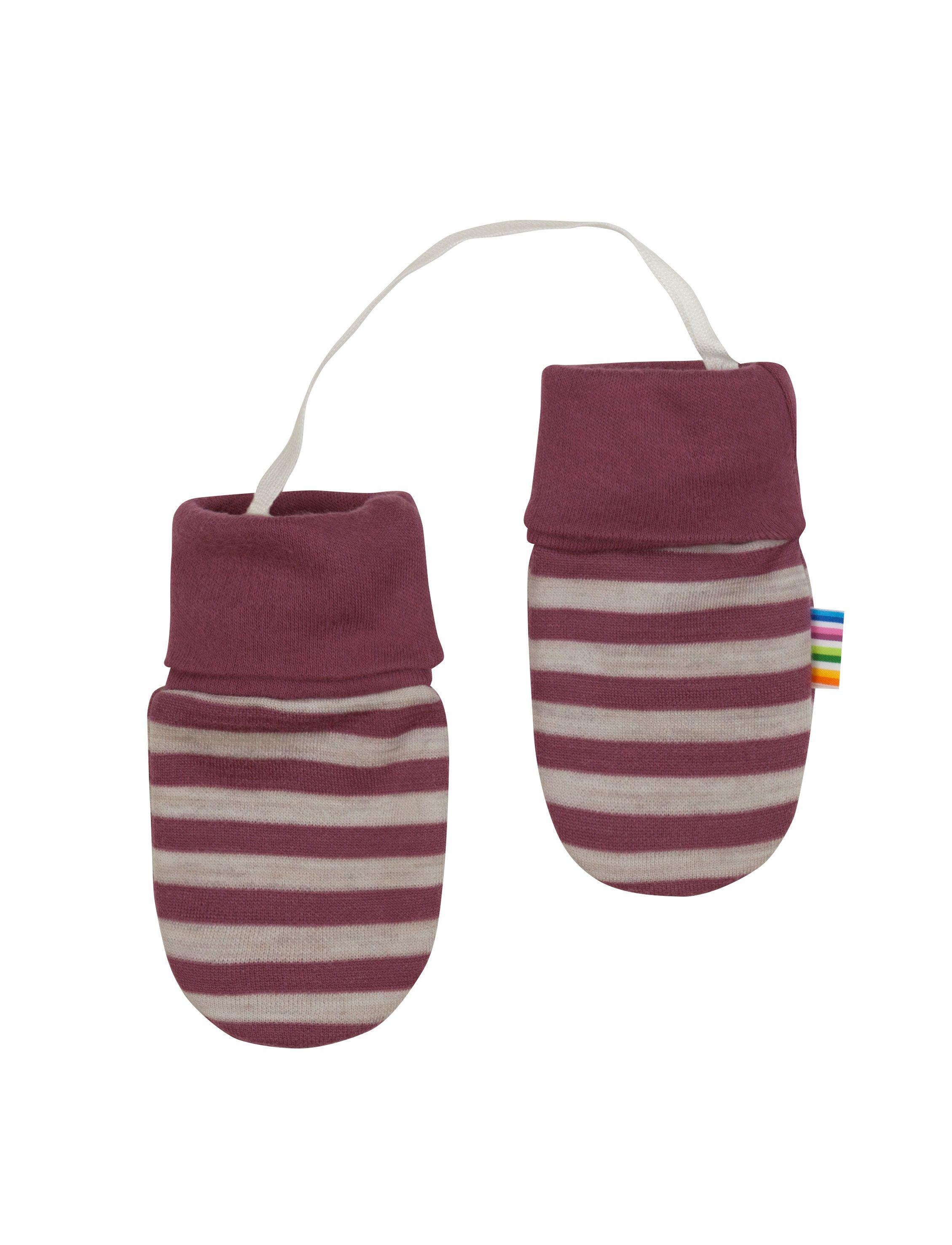 Image of   Luffer fra Joha i uld-bomuld m. Red-grey stripe
