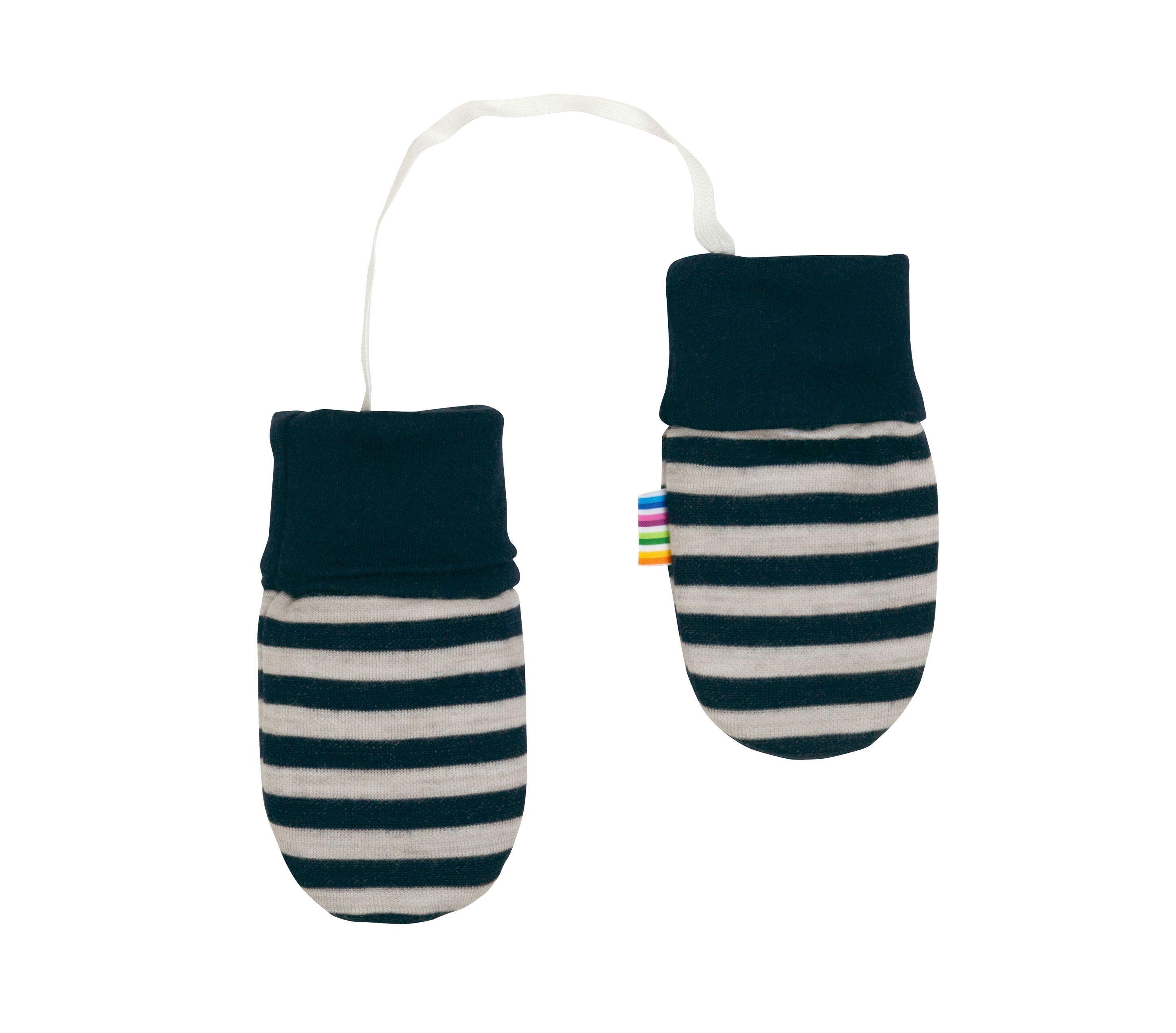 Image of   Luffer fra Joha i uld-bomuld m. Blue-grey stripe