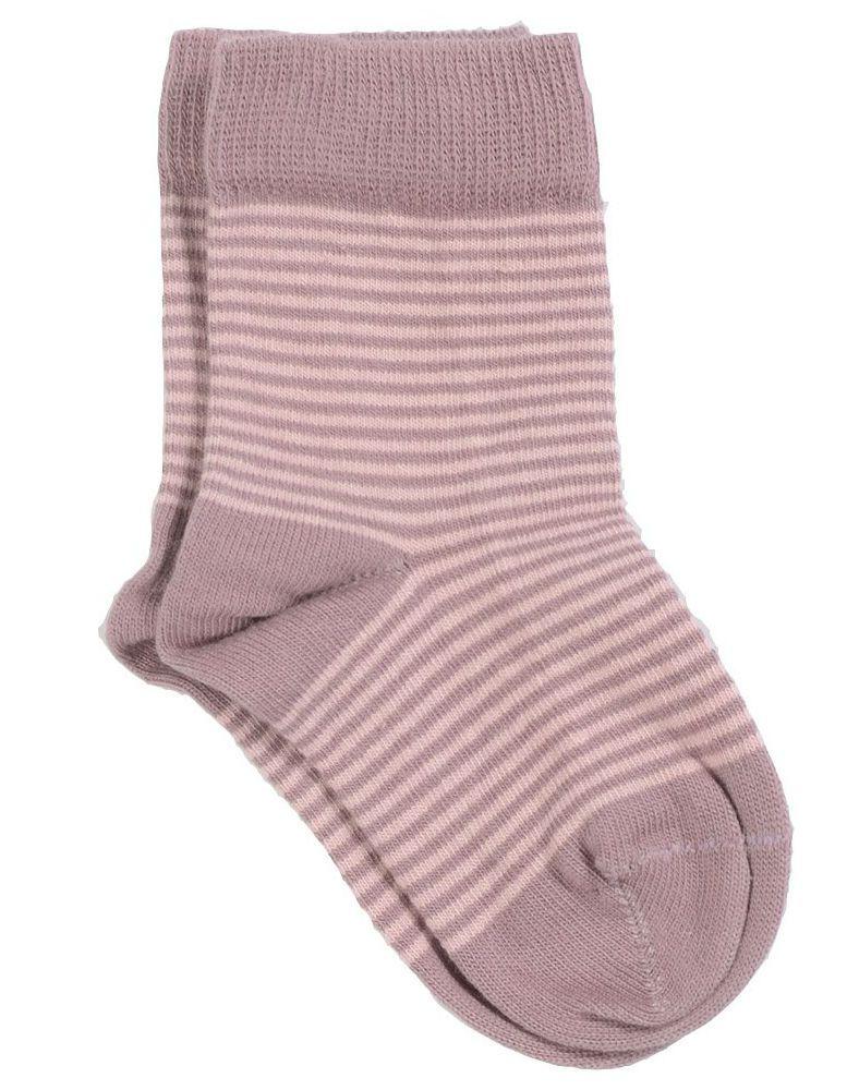 Image of   Smallstuff strømper - lyse og mørk rosa striber