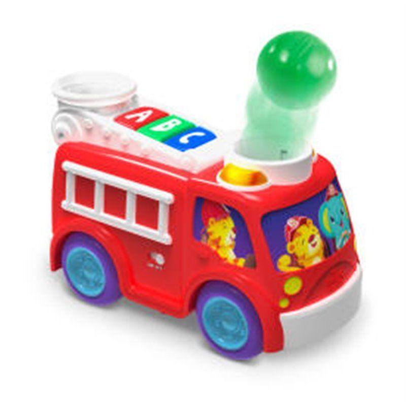 Image of Rullende og poppende brandbil fra Bright Starts (BS-52137)