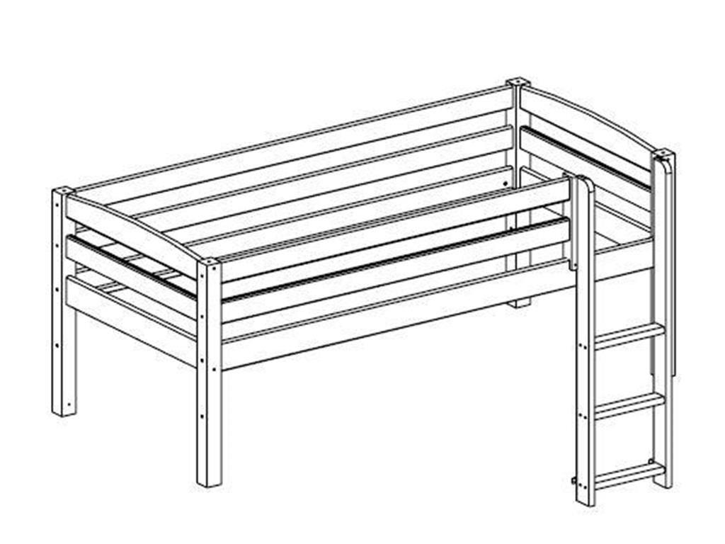 Image of   Køjsengs udvidelse til Flexa Trendy - Whitewash (200x90)