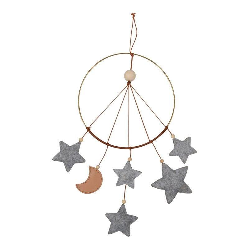 Little moon mobile - stjernefanger fra Filibabba i Gråmeleret