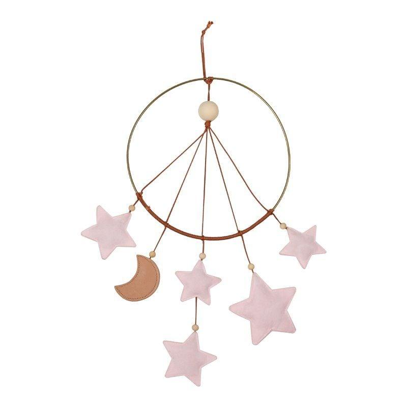 Little moon mobile - stjernefanger fra Filibabba i Rosa