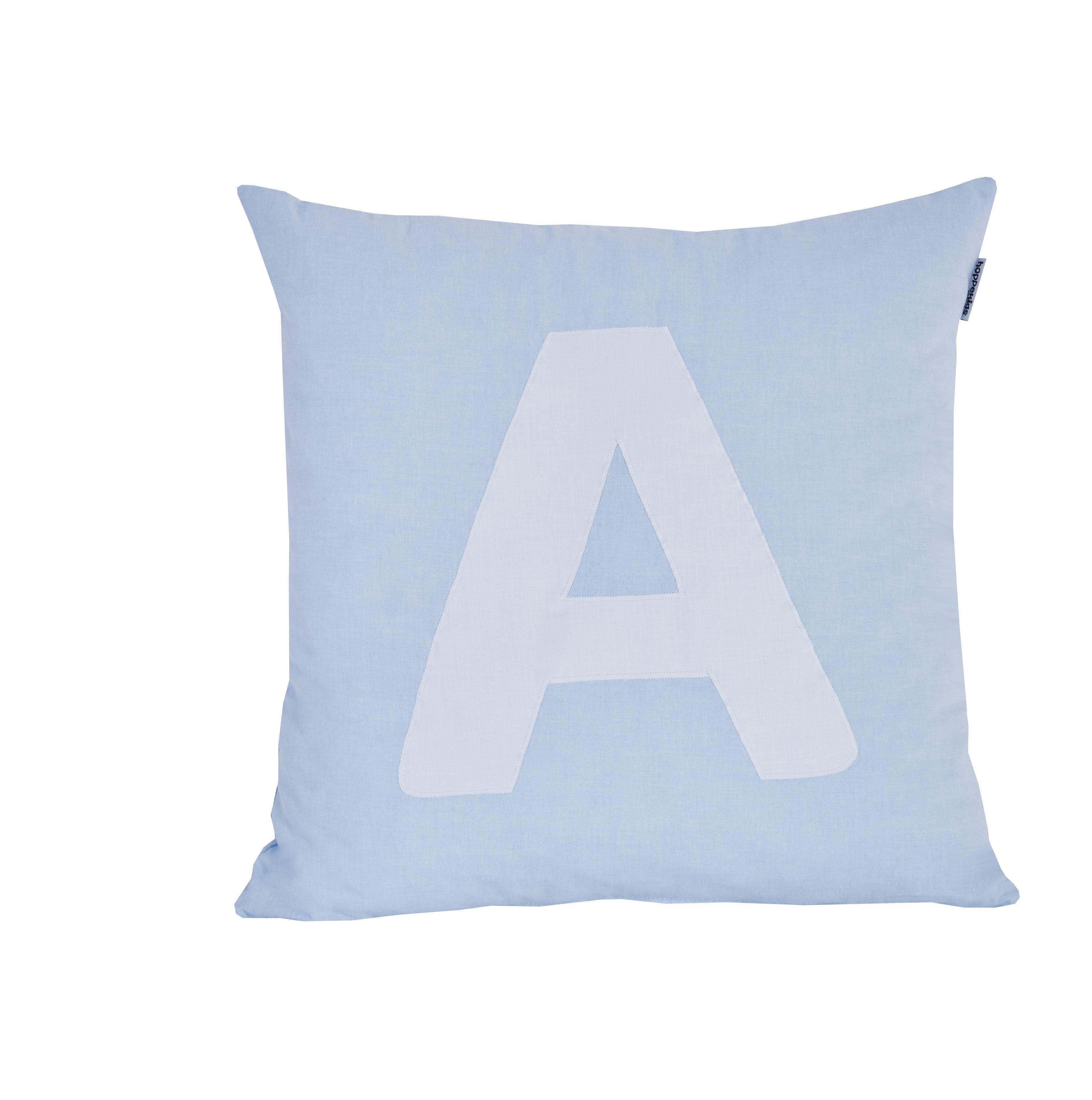 Pude Alphabet A lyseblå fra Hoppekids