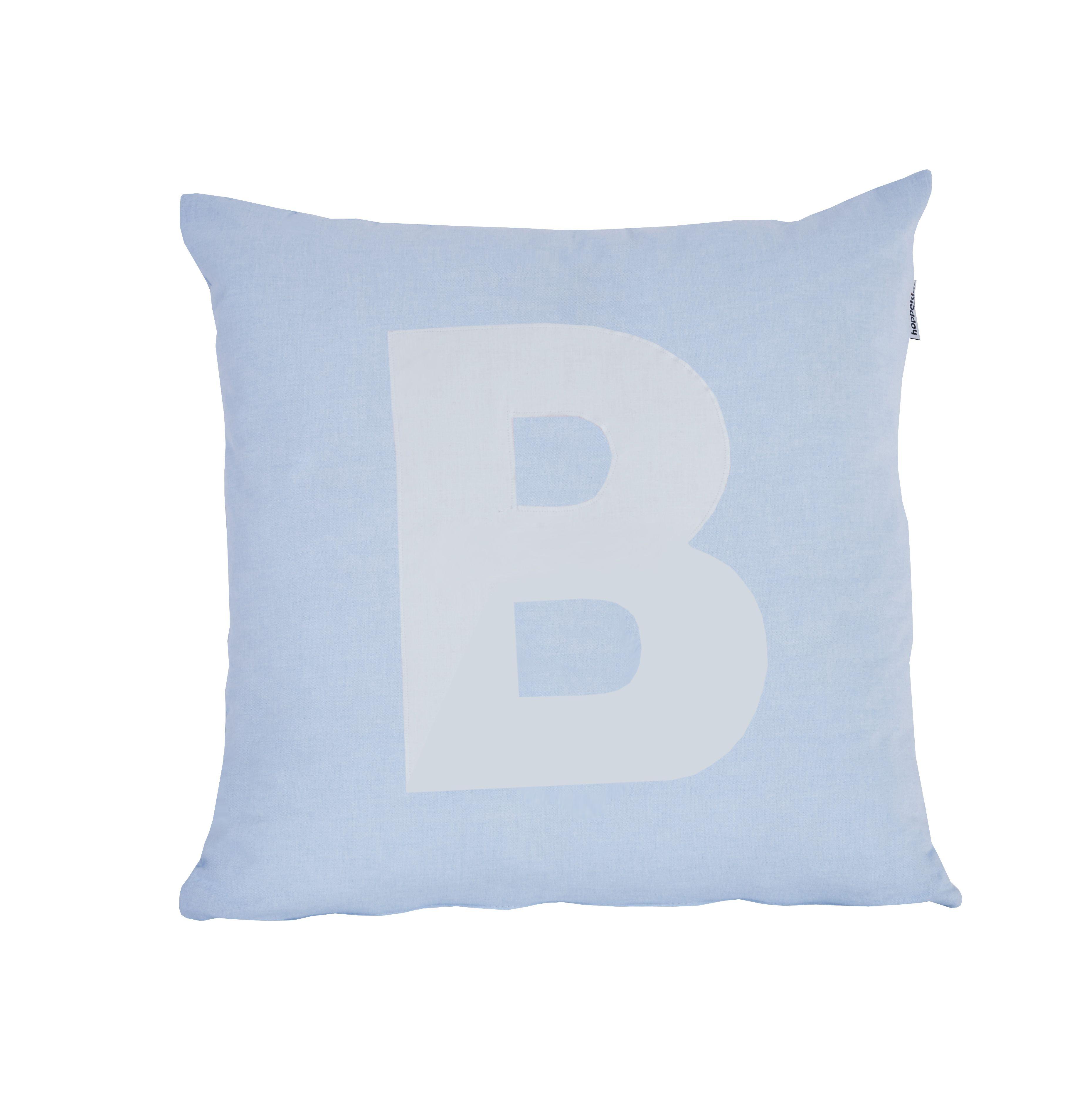 Pude Alphabet B lyseblå fra Hoppekids