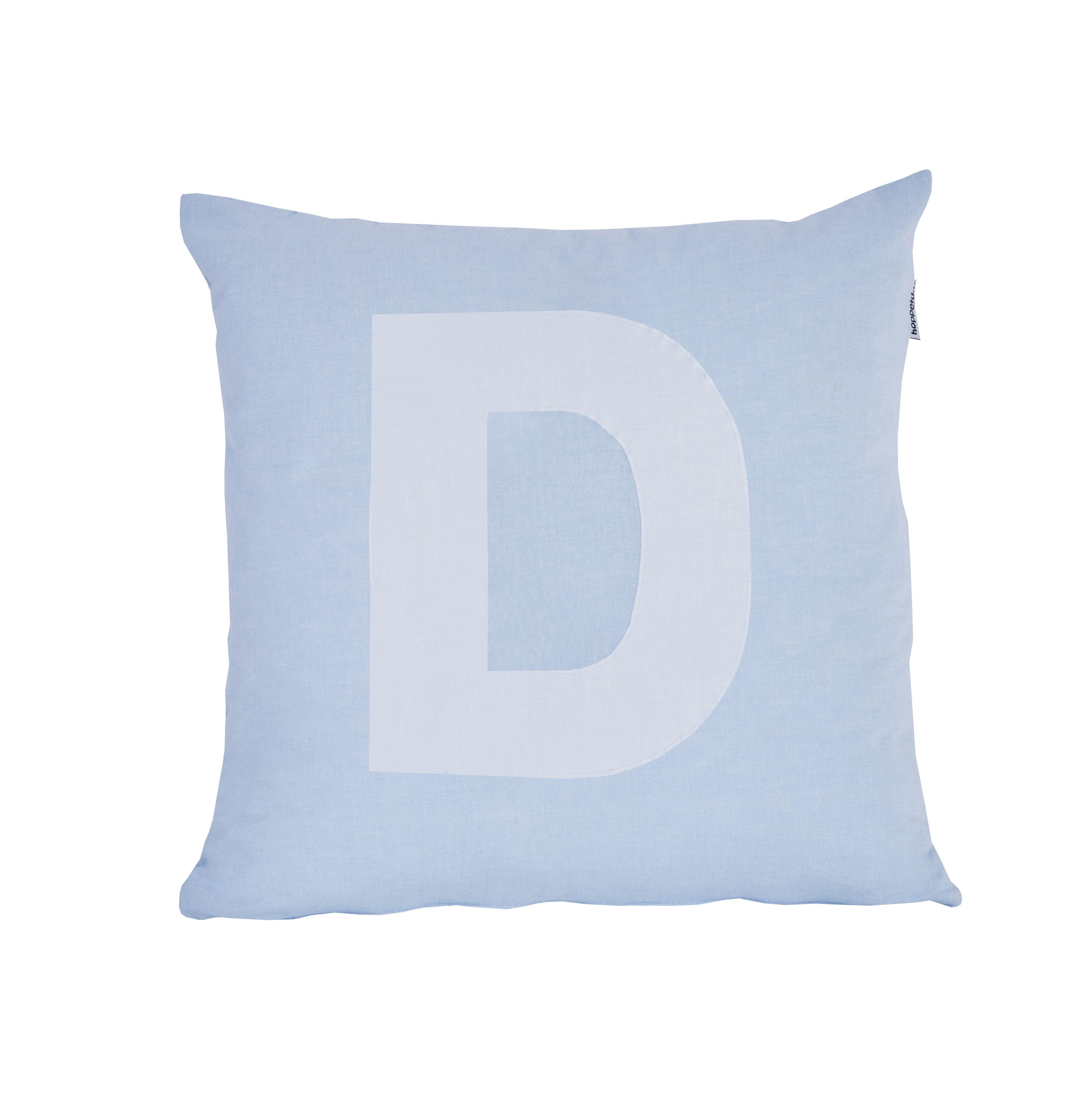 Pude Alphabet D lyseblå fra Hoppekids