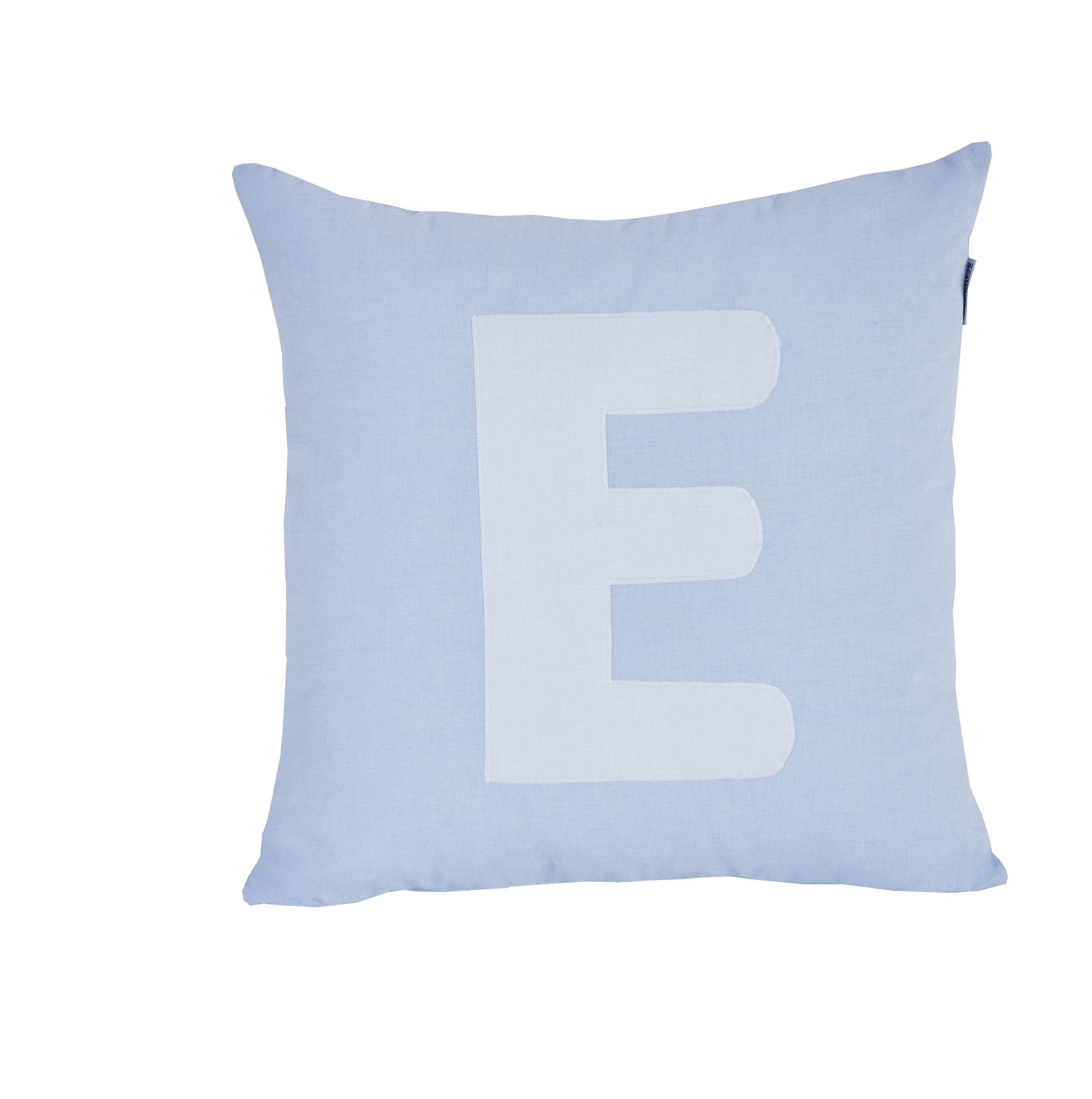 Pude Alphabet E lyseblå fra Hoppekids