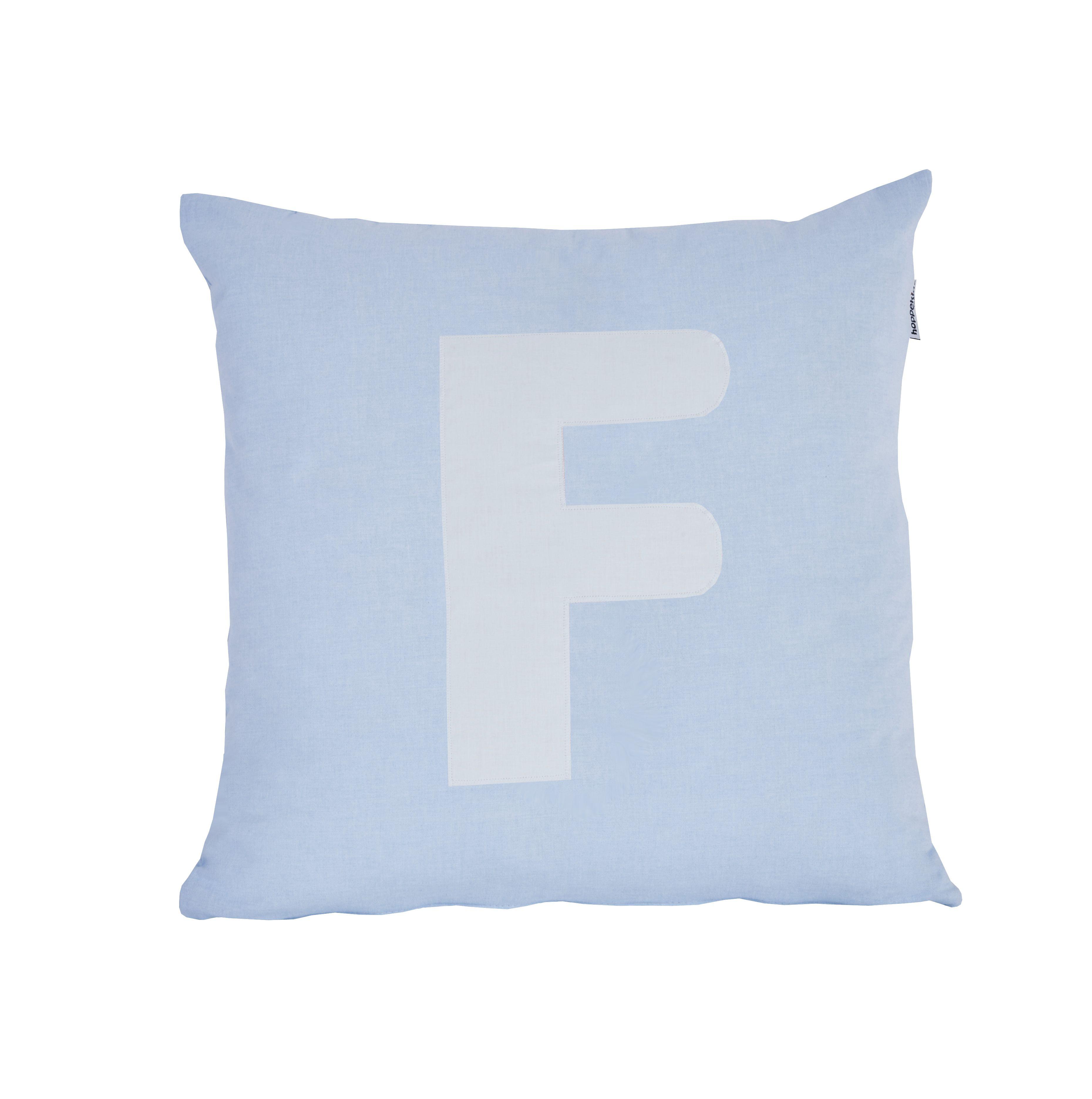 Pude Alphabet F lyseblå fra Hoppekids
