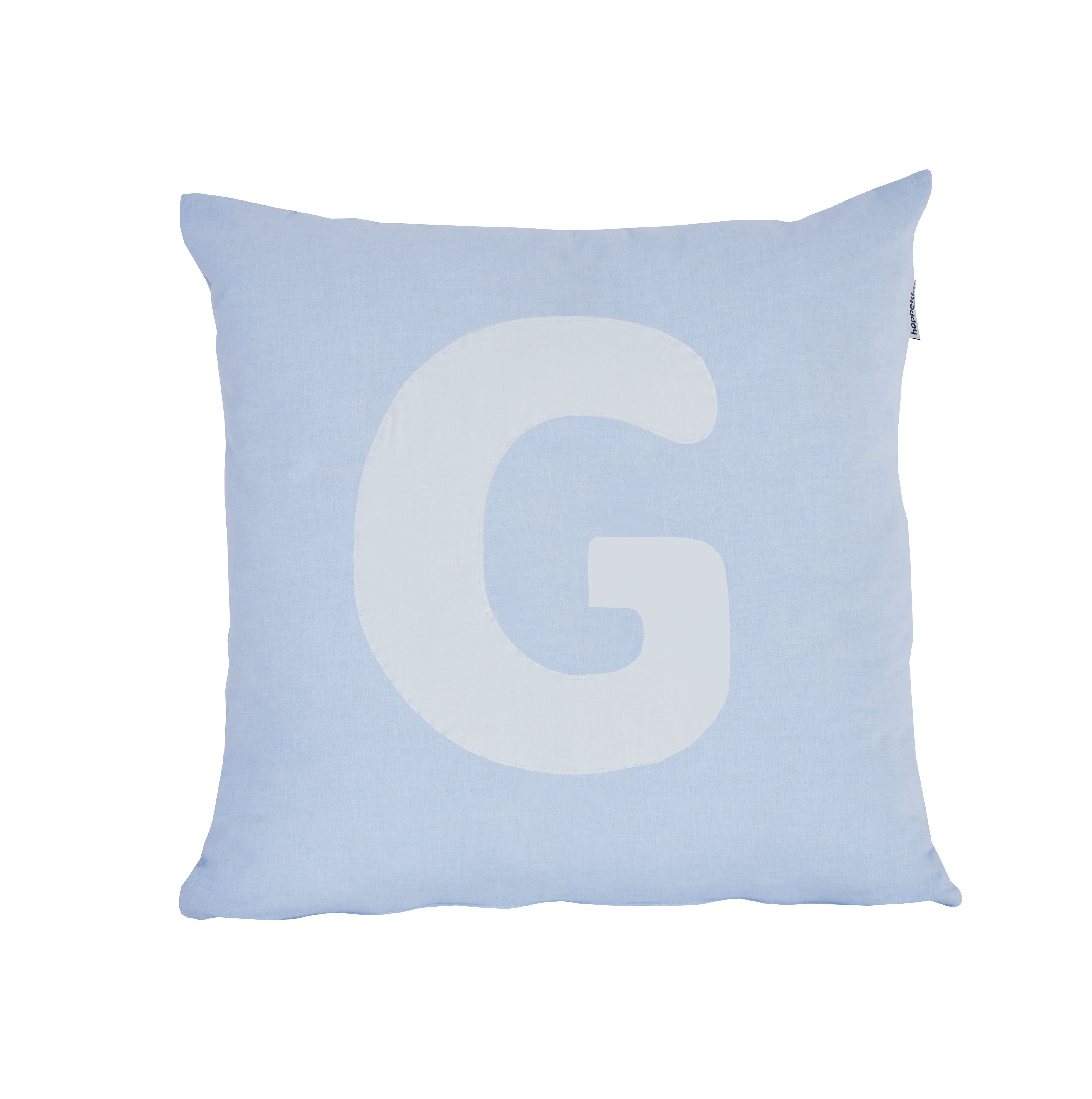 Pude Alphabet G lyseblå fra Hoppekids