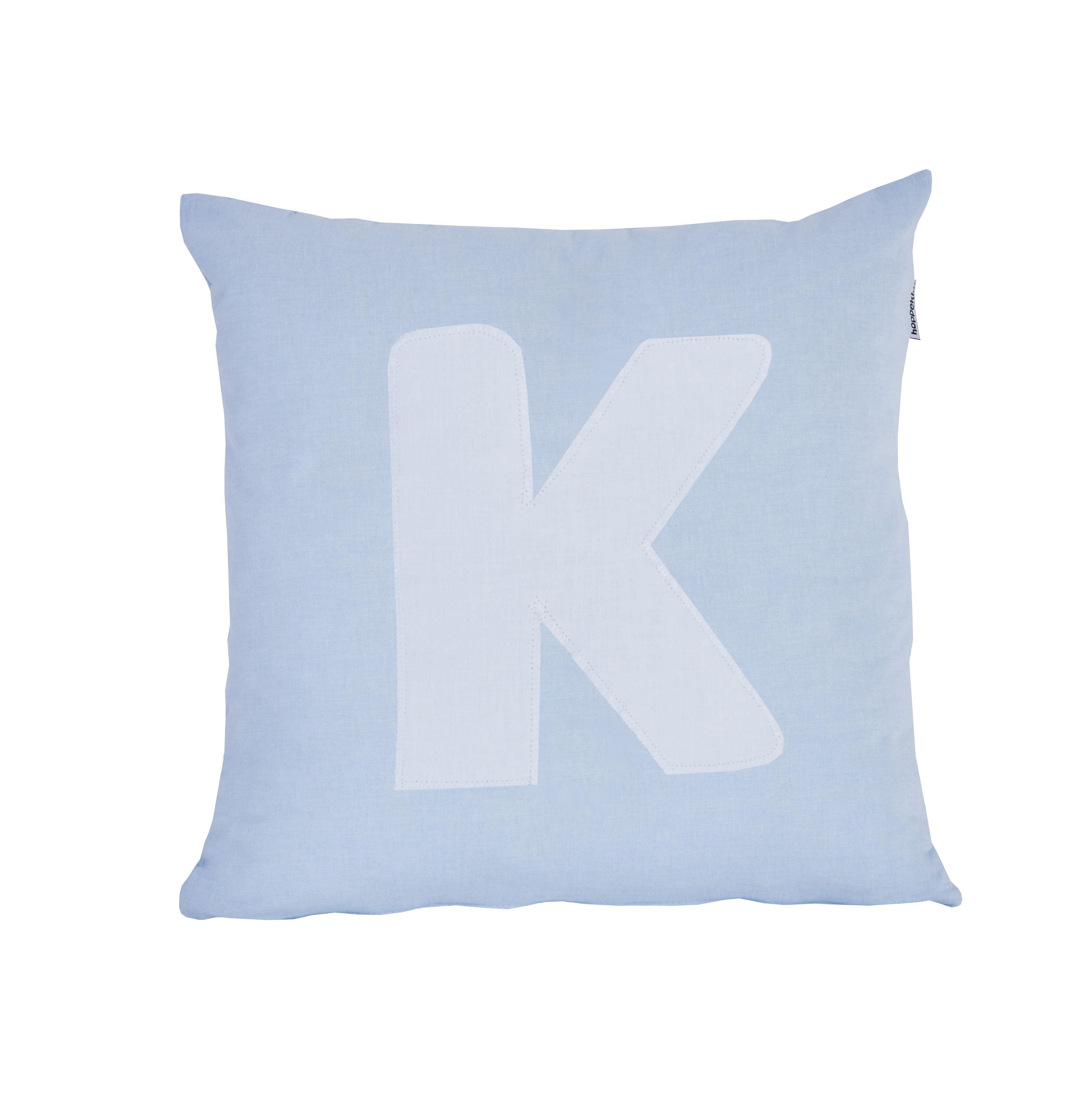 Pude Alphabet K lyseblå fra Hoppekids