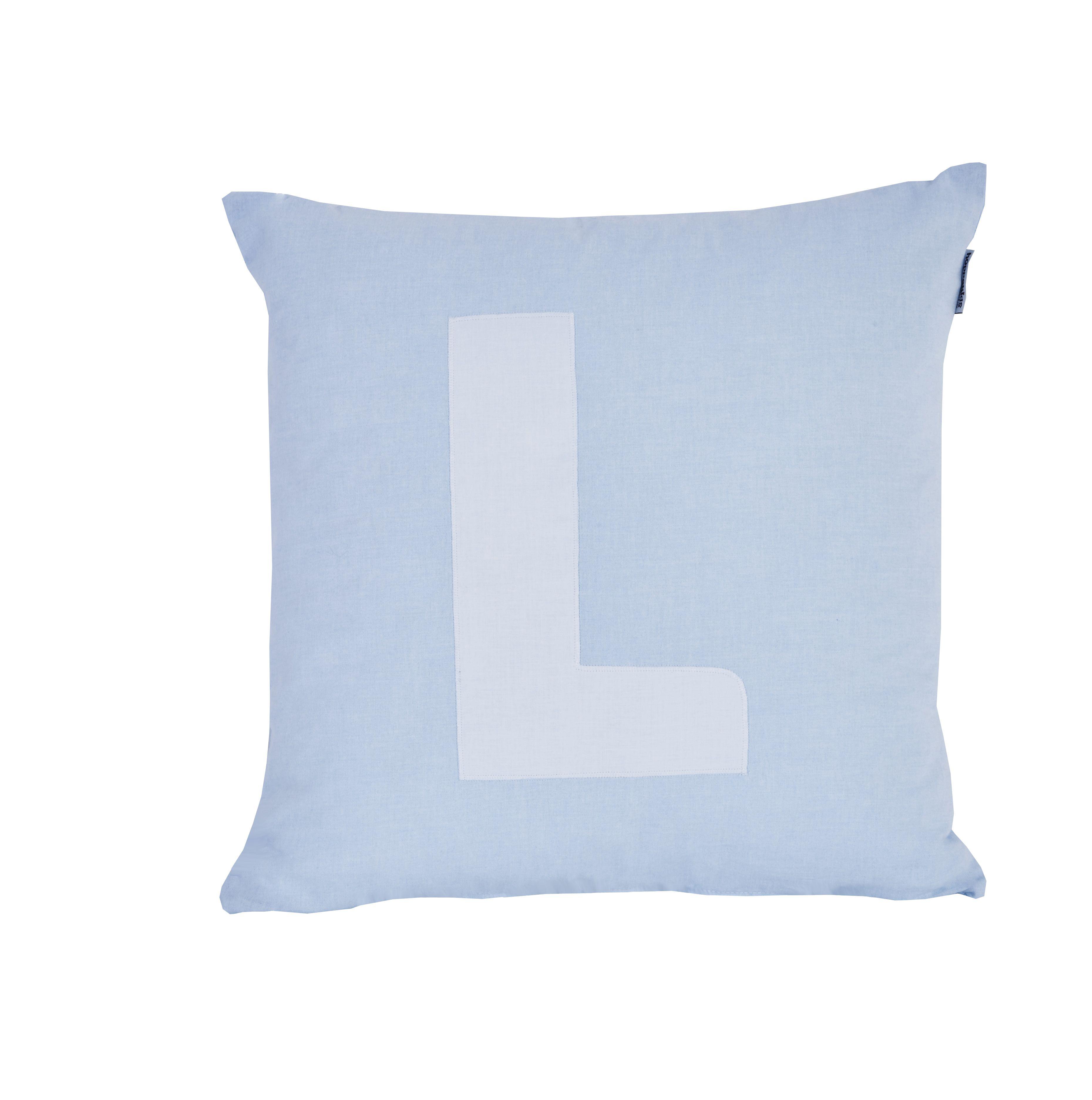 Pude Alphabet L lyseblå fra Hoppekids