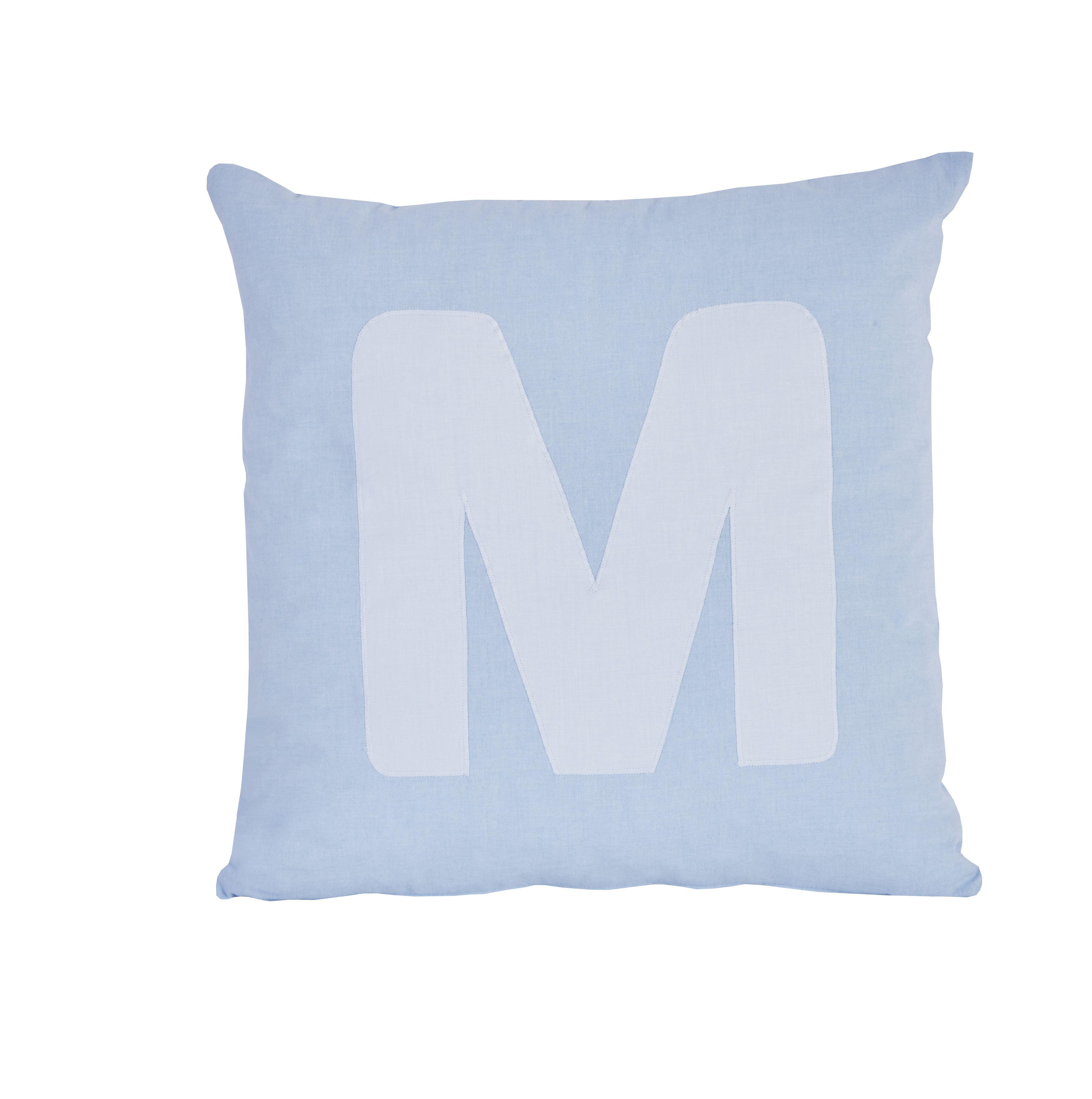Pude Alphabet M lyseblå fra Hoppekids