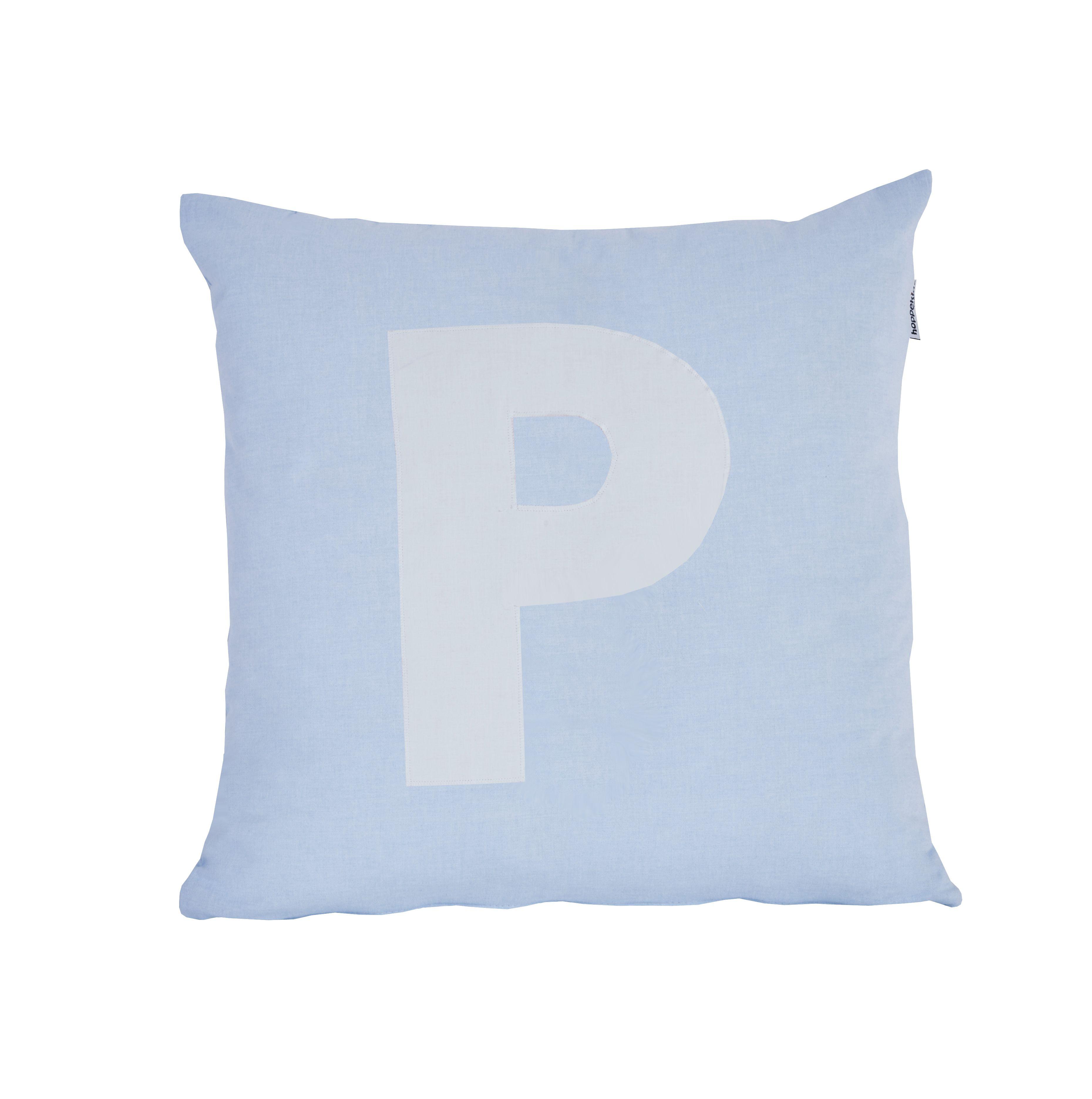 Pude Alphabet P lyseblå fra Hoppekids