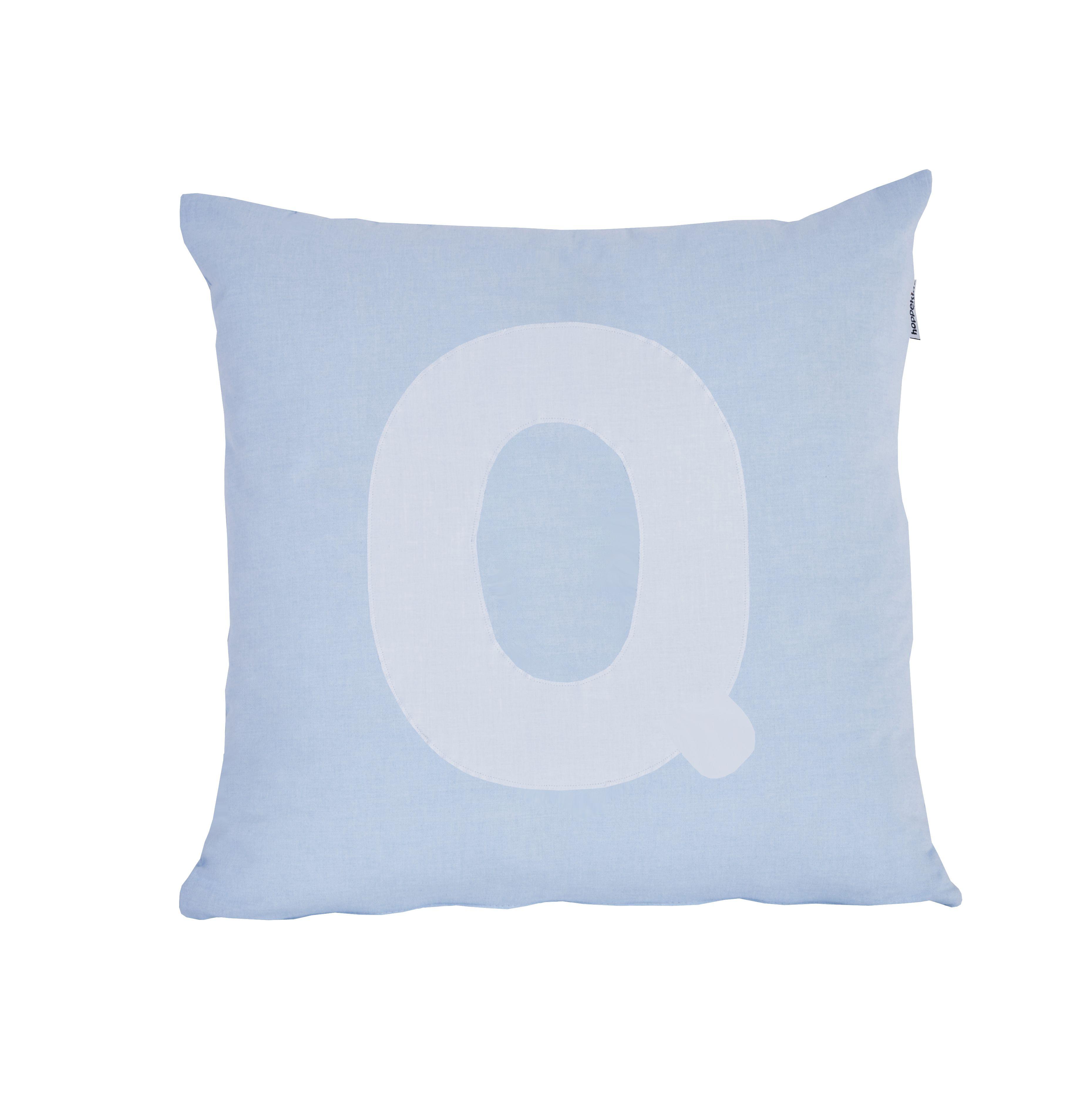 Pude Alphabet Q lyseblå fra Hoppekids