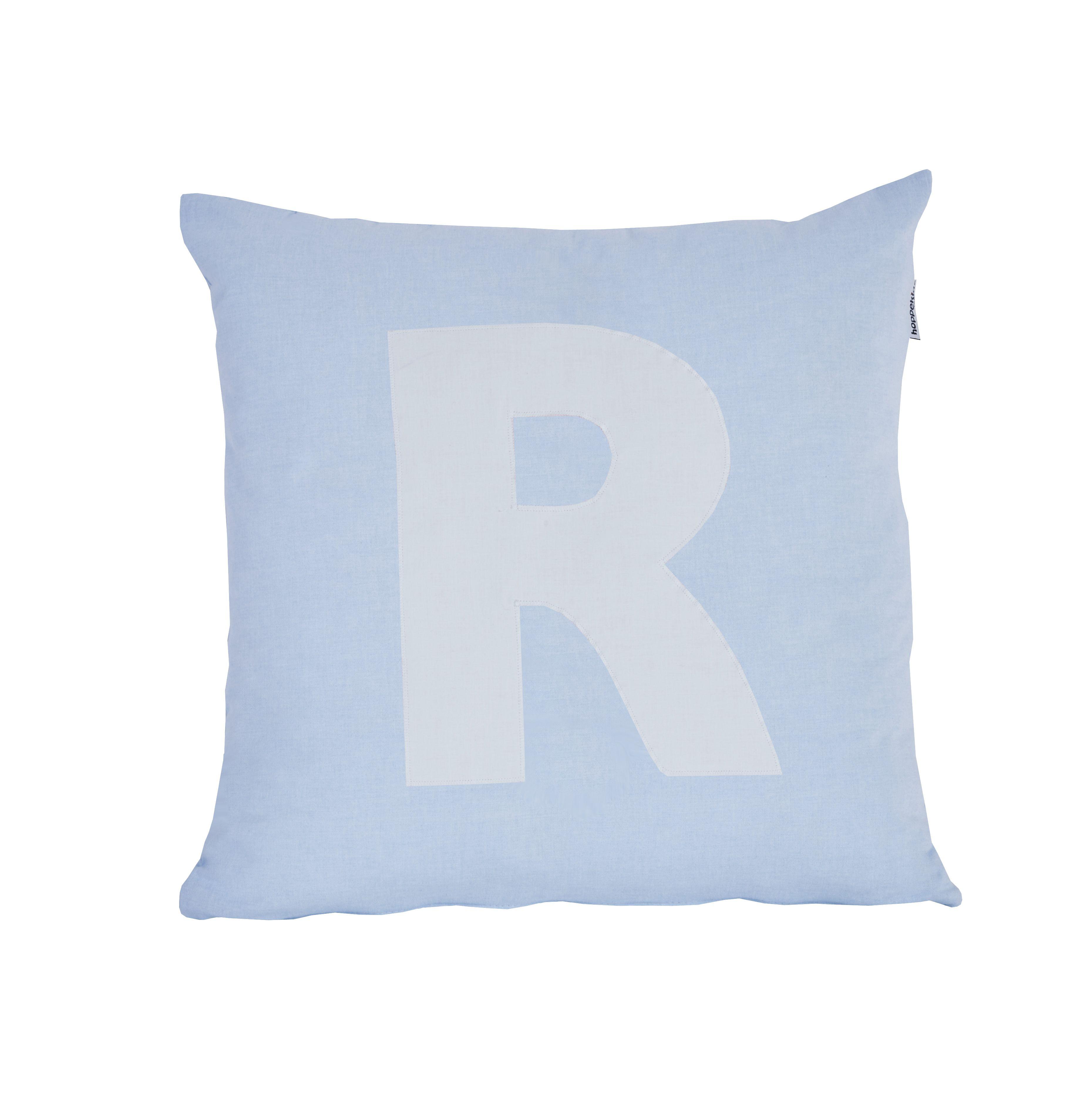 Pude Alphabet R lyseblå fra Hoppekids