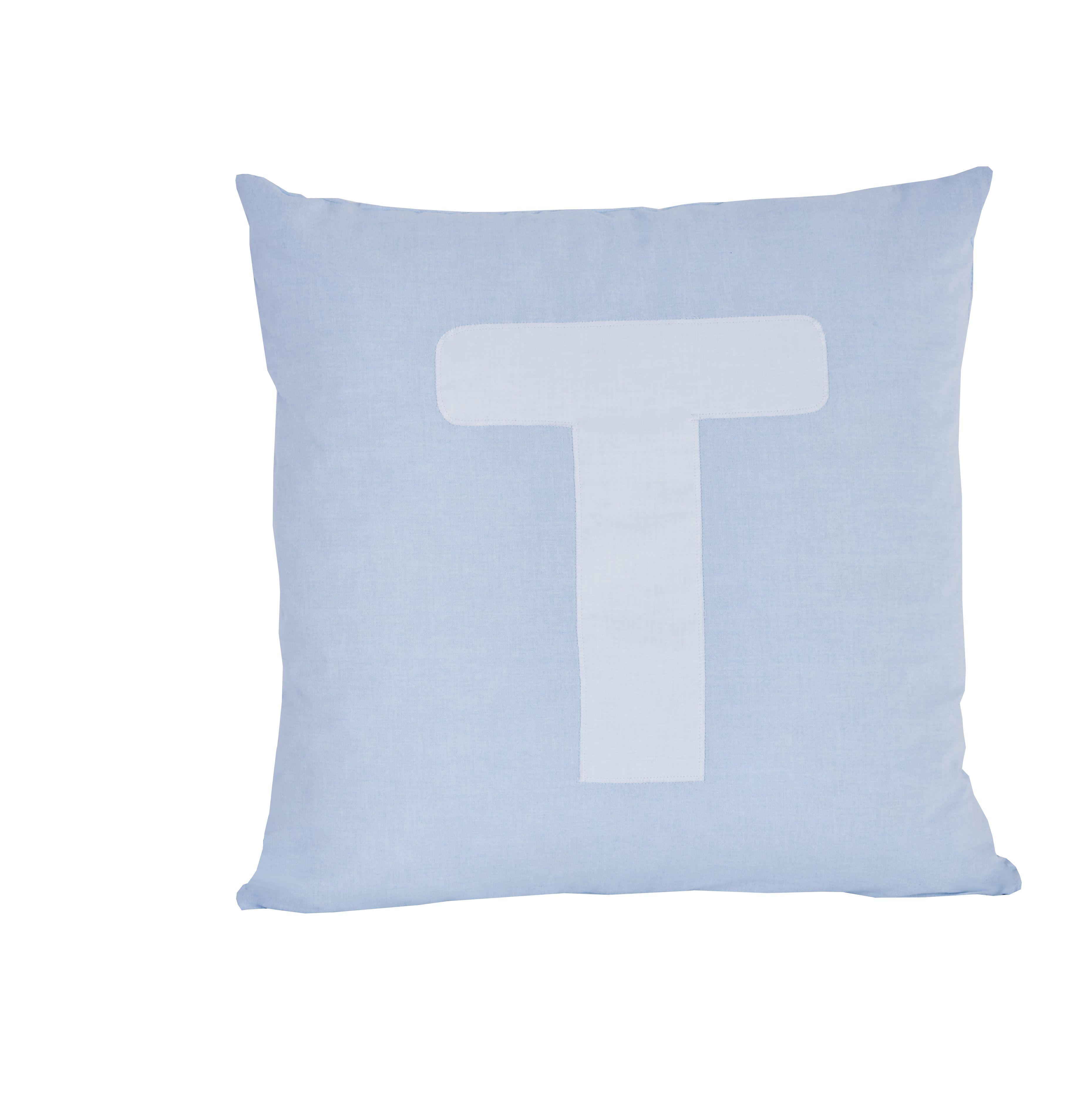 Pude Alphabet T lyseblå fra Hoppekids