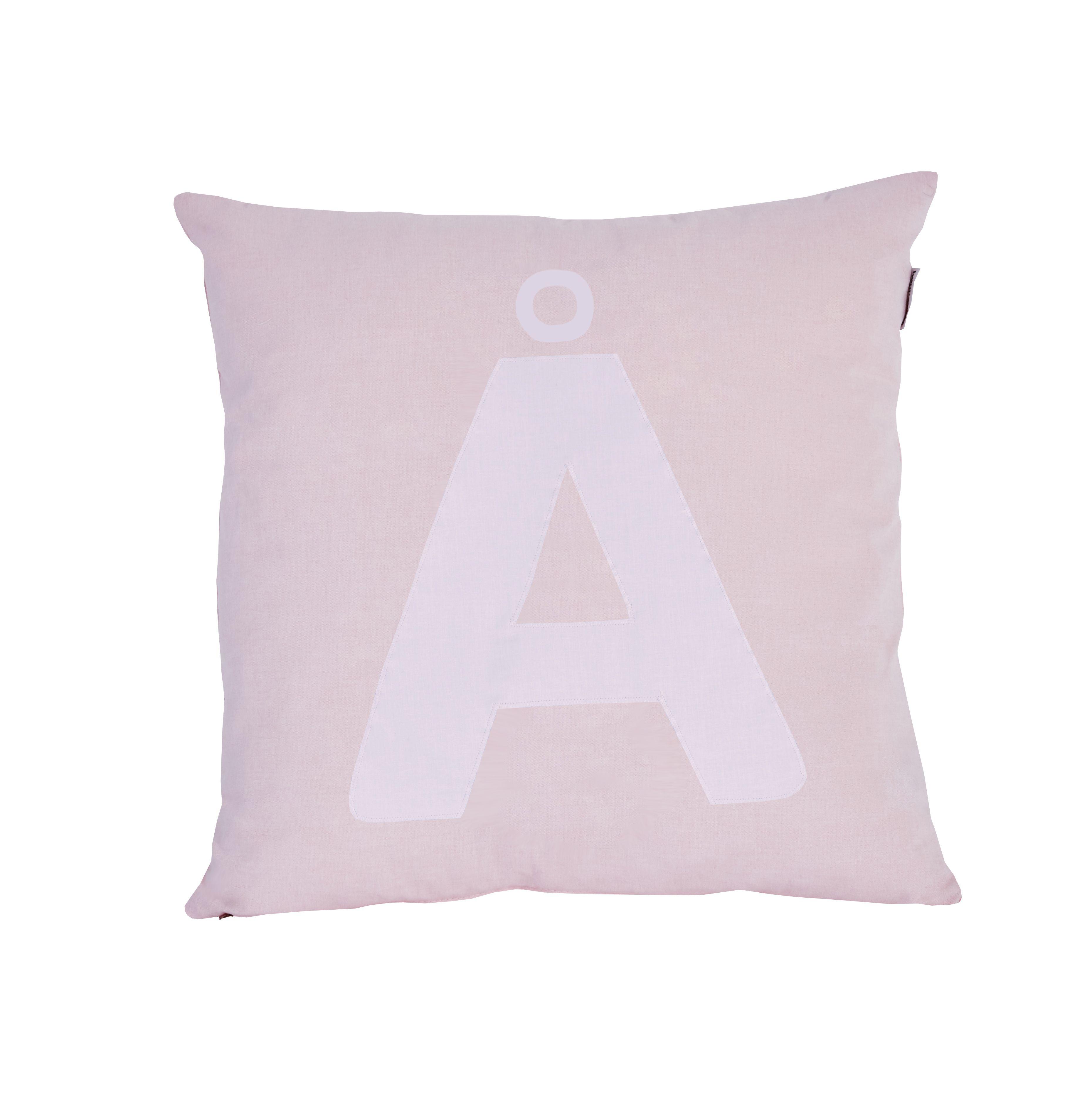 Image of Pude Alphabet Å lyserød fra Hoppekids (36-4650-LR-028)