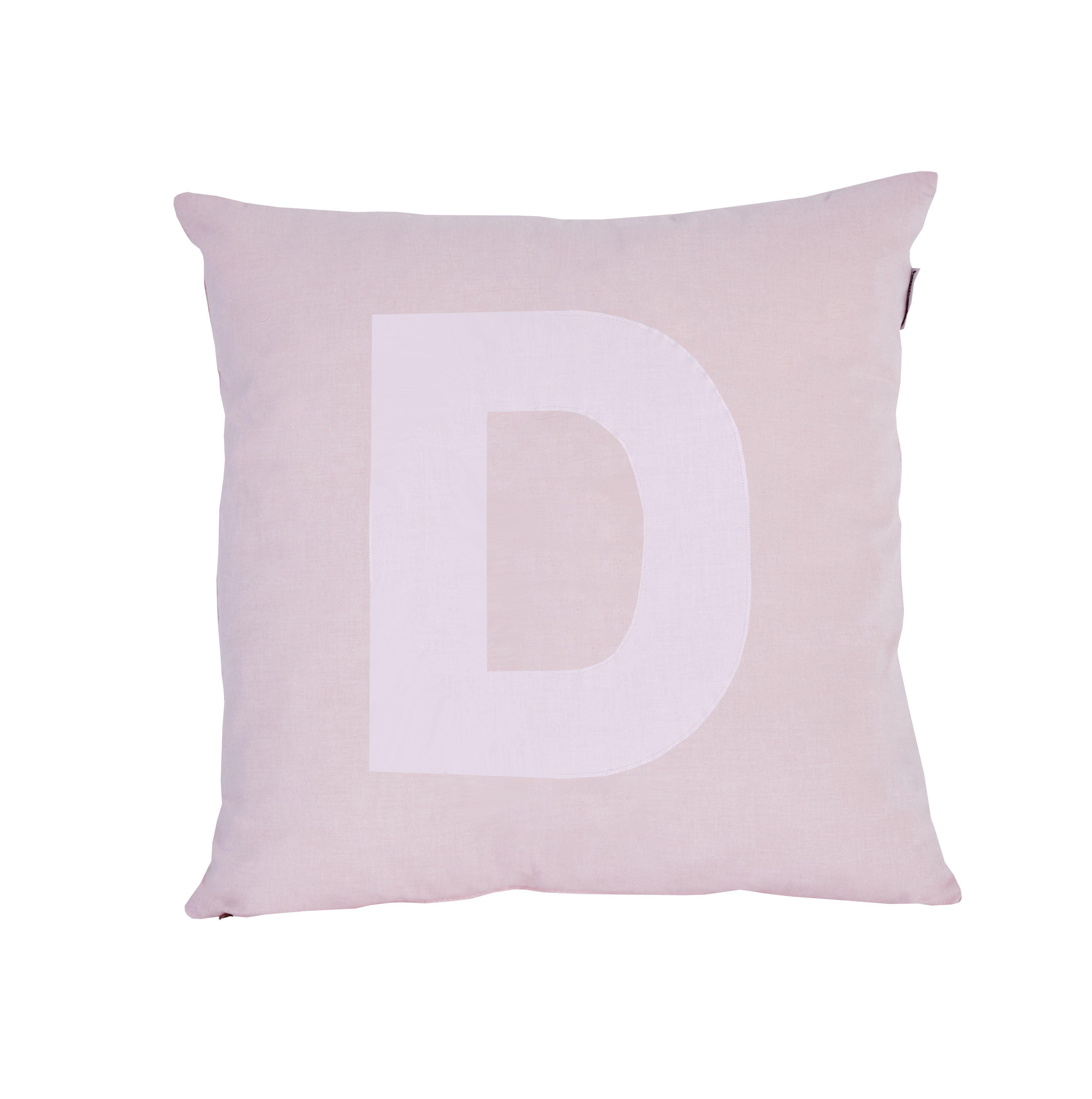 Pude Alphabet D lyserød fra Hoppekids