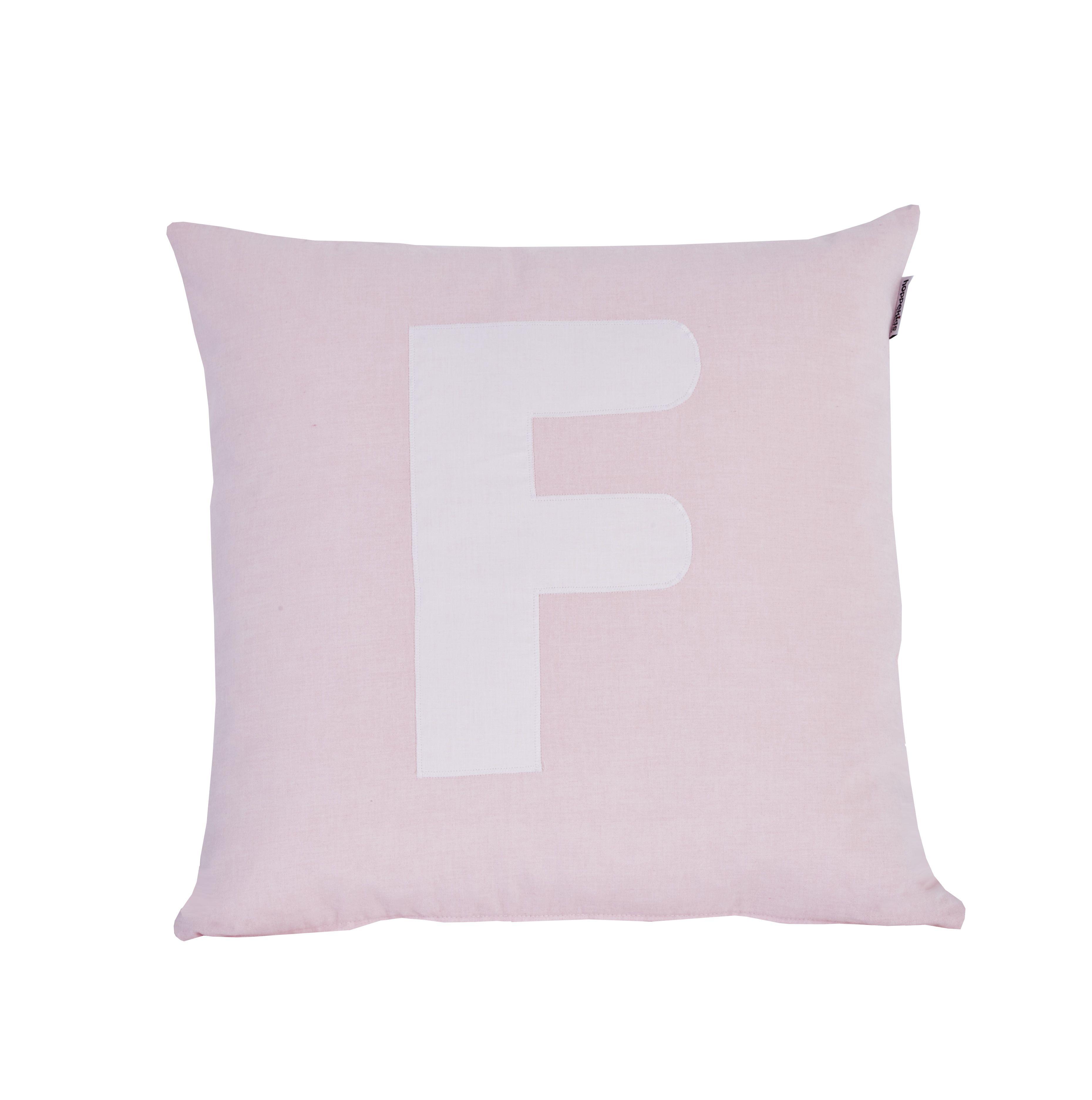 Image of   Pude Alphabet F lyserød fra Hoppekids