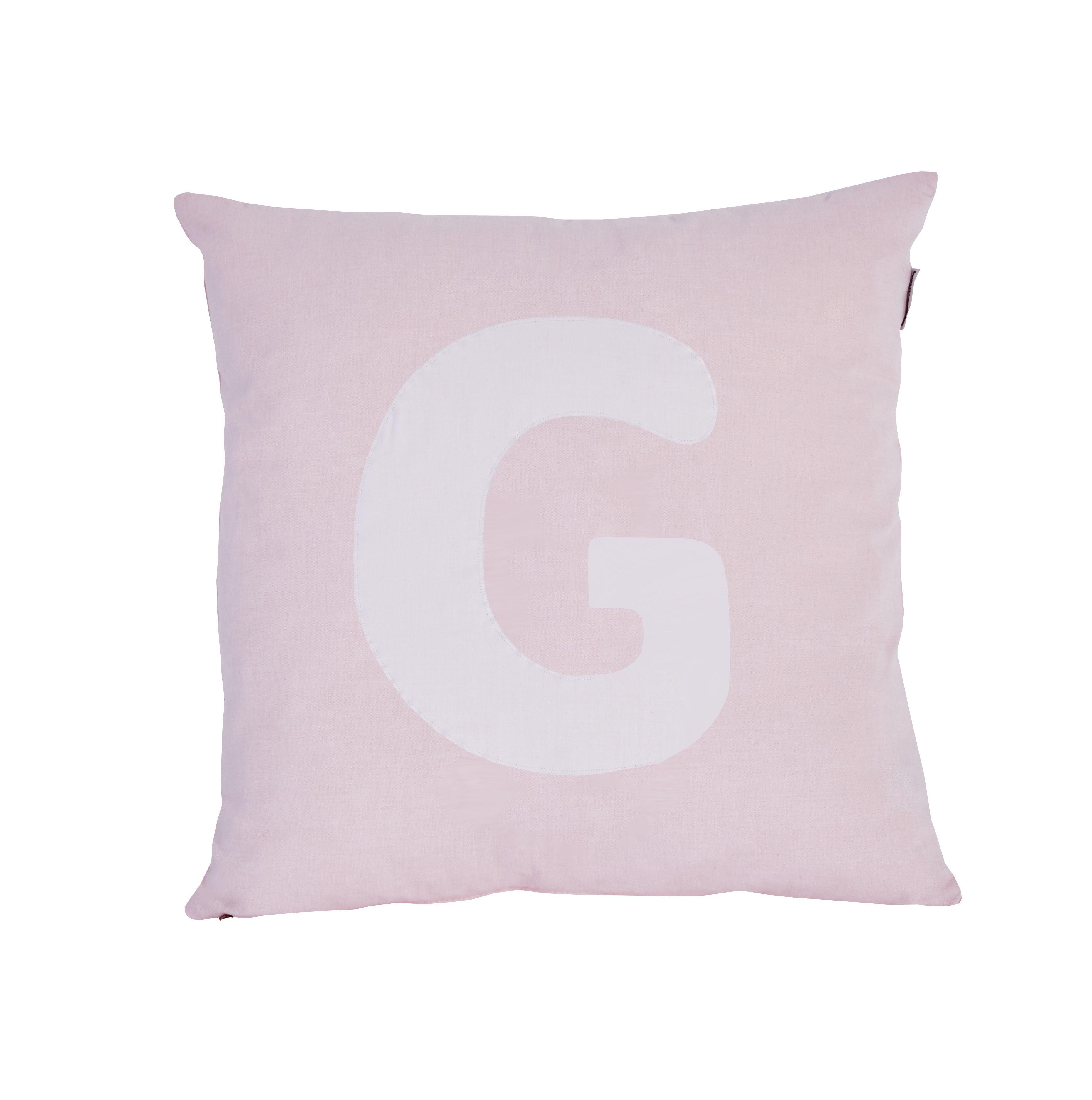 Pude Alphabet G lyserød fra Hoppekids