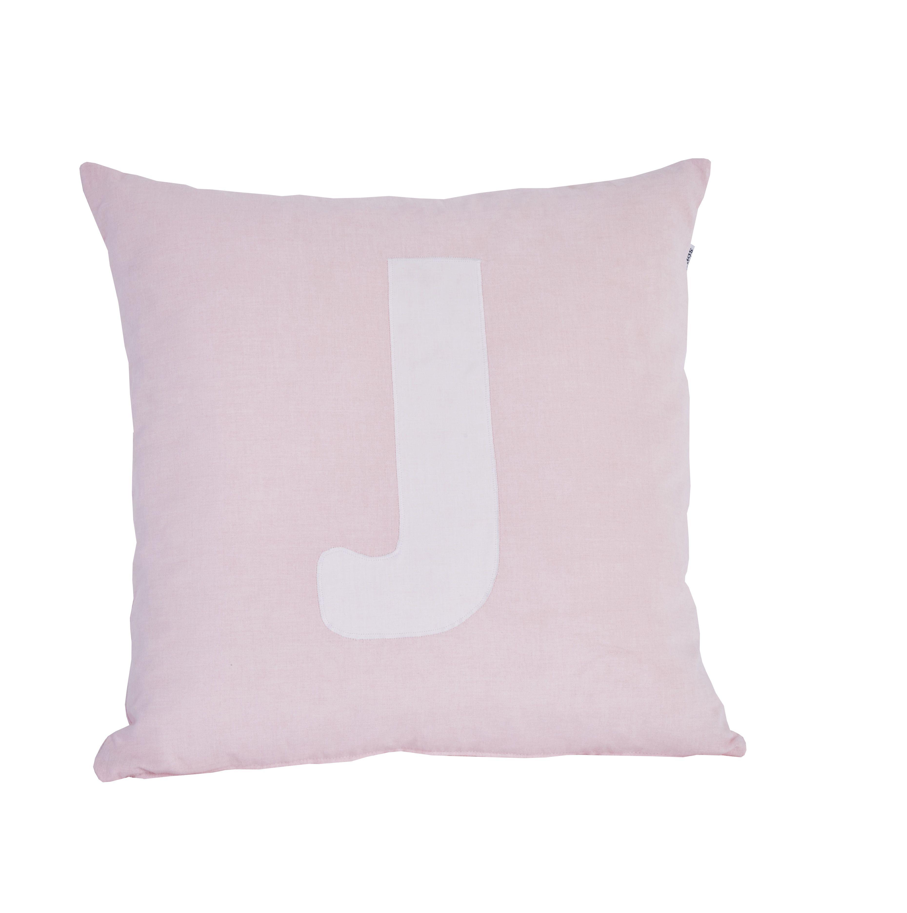 Pude Alphabet J lyserød fra Hoppekids