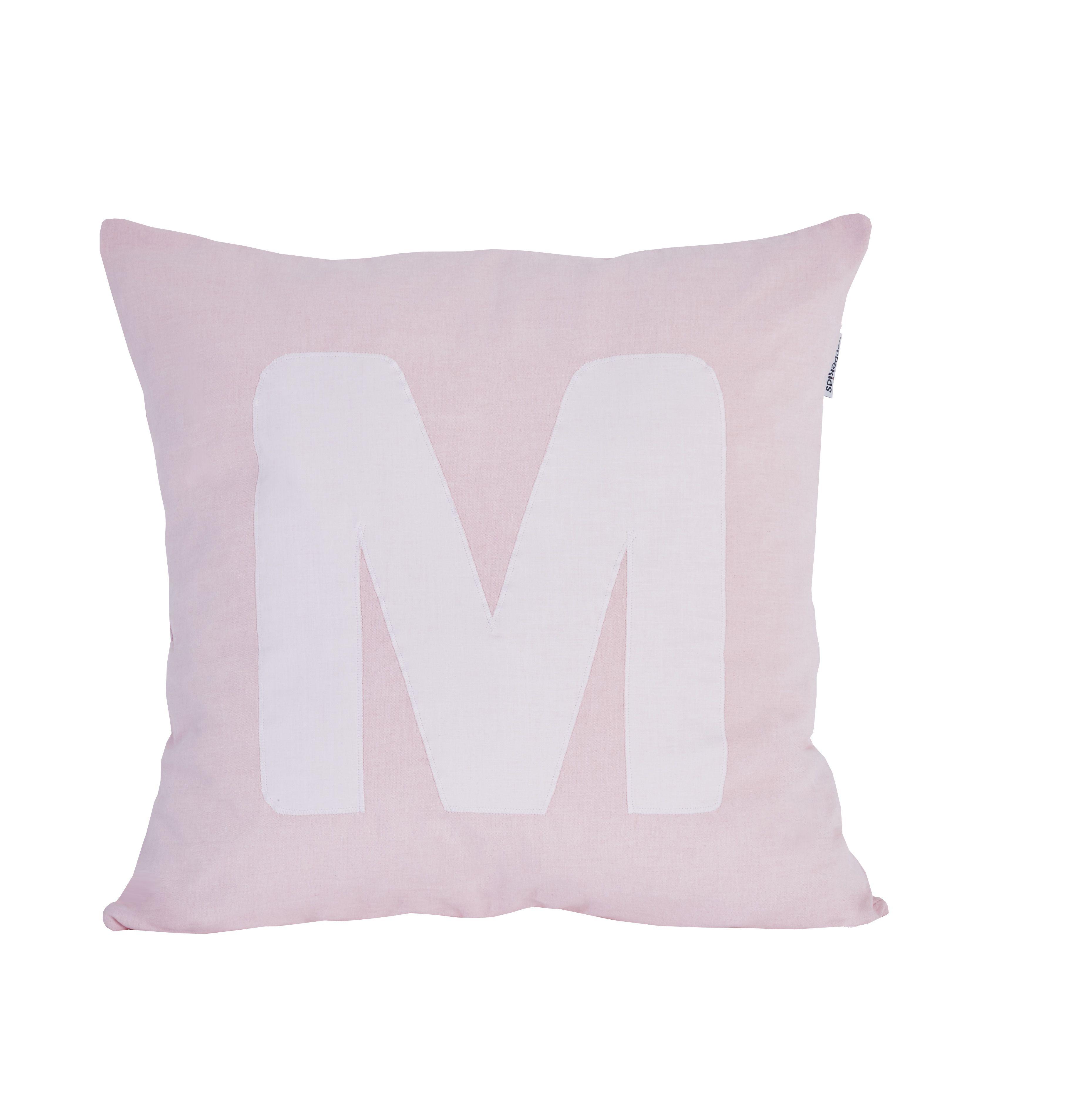 Pude Alphabet M lyserød fra Hoppekids