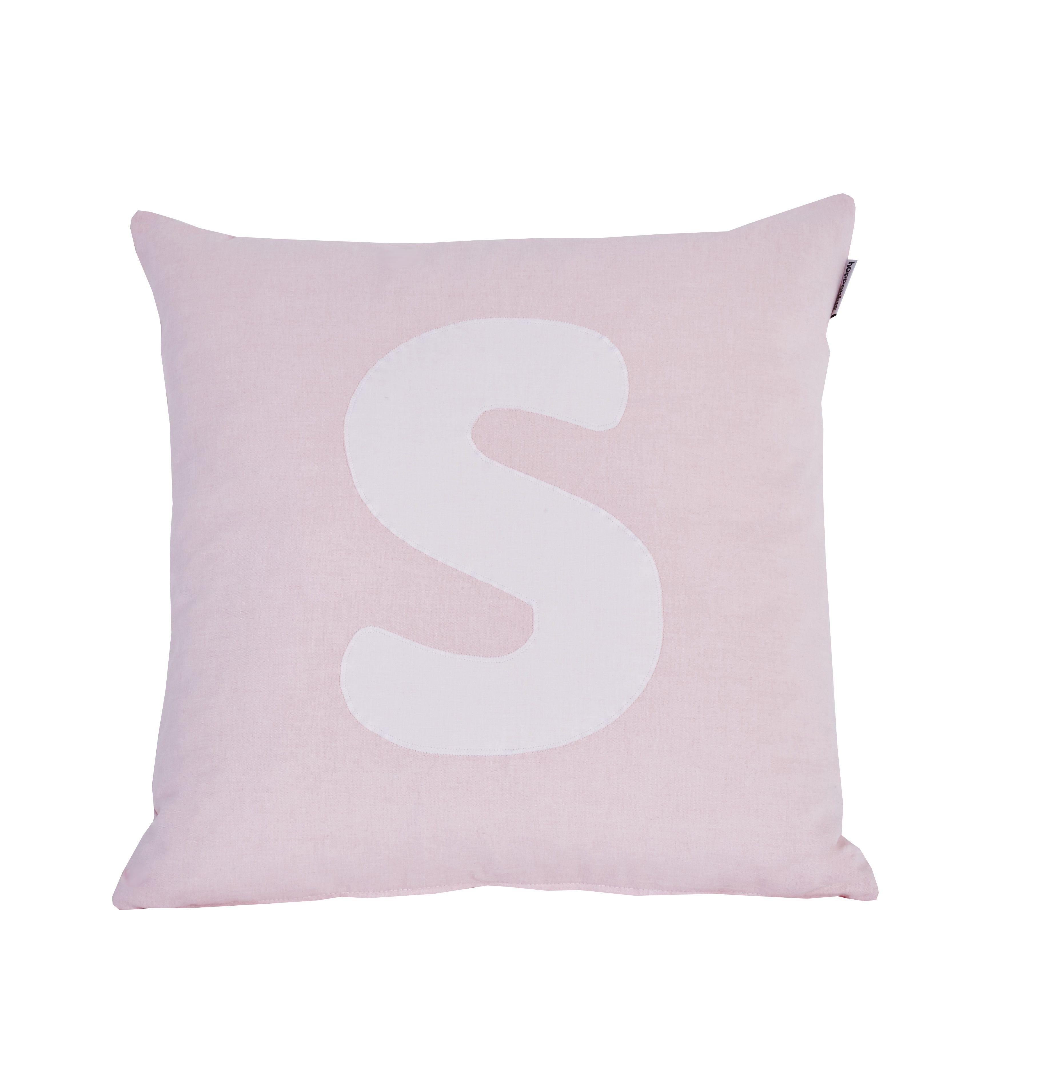 Pude Alphabet S lyserød fra Hoppekids