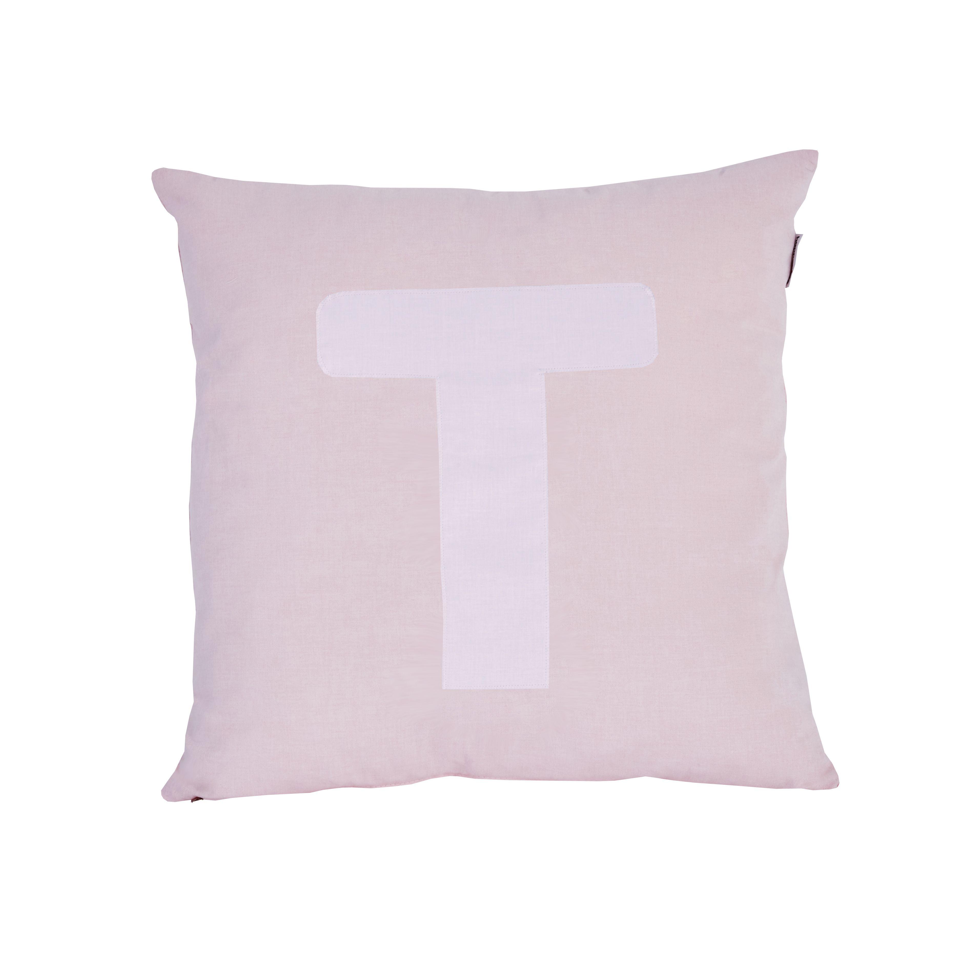 Pude Alphabet T lyserød fra Hoppekids