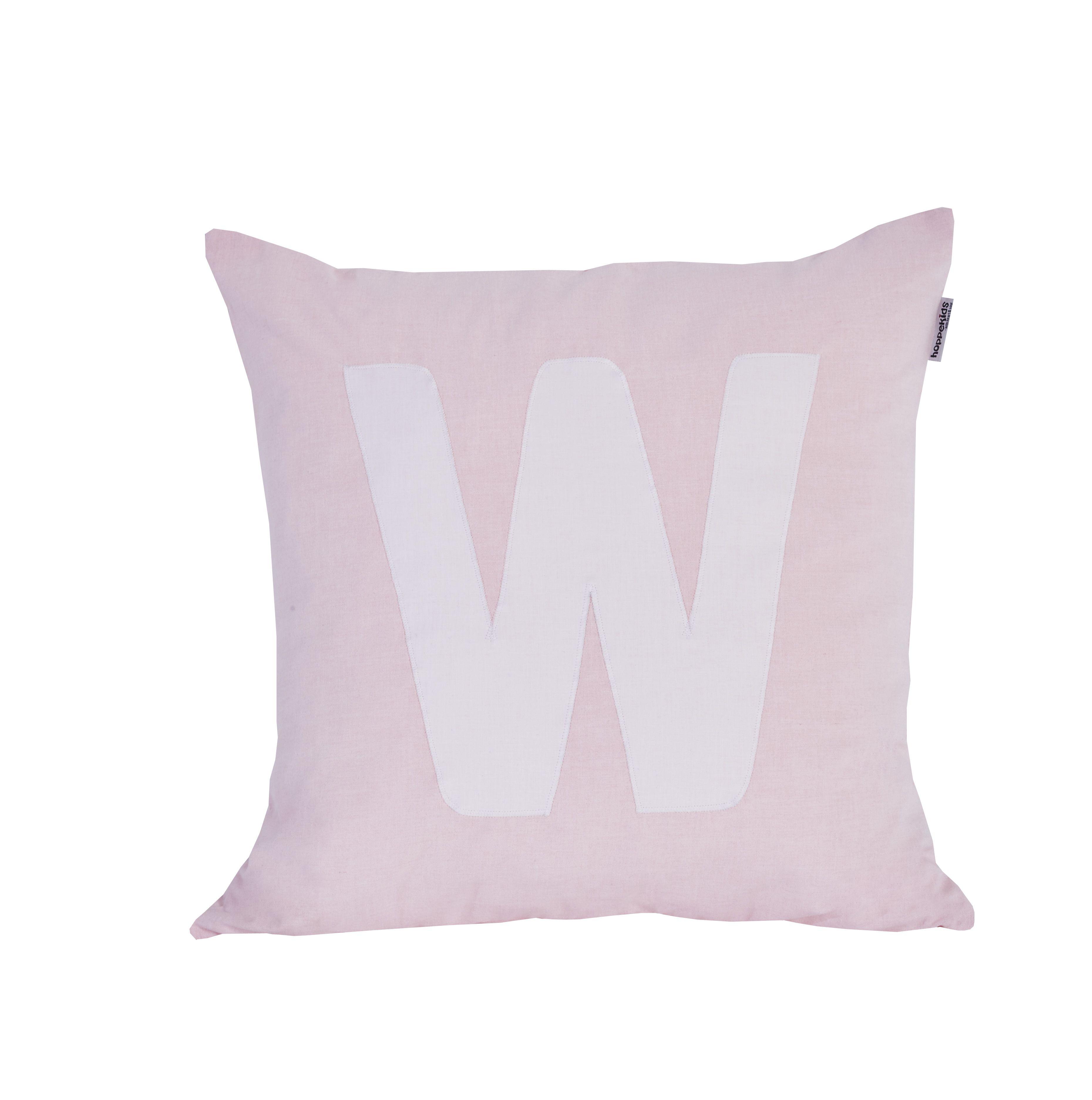 Pude Alphabet W lyserød fra Hoppekids
