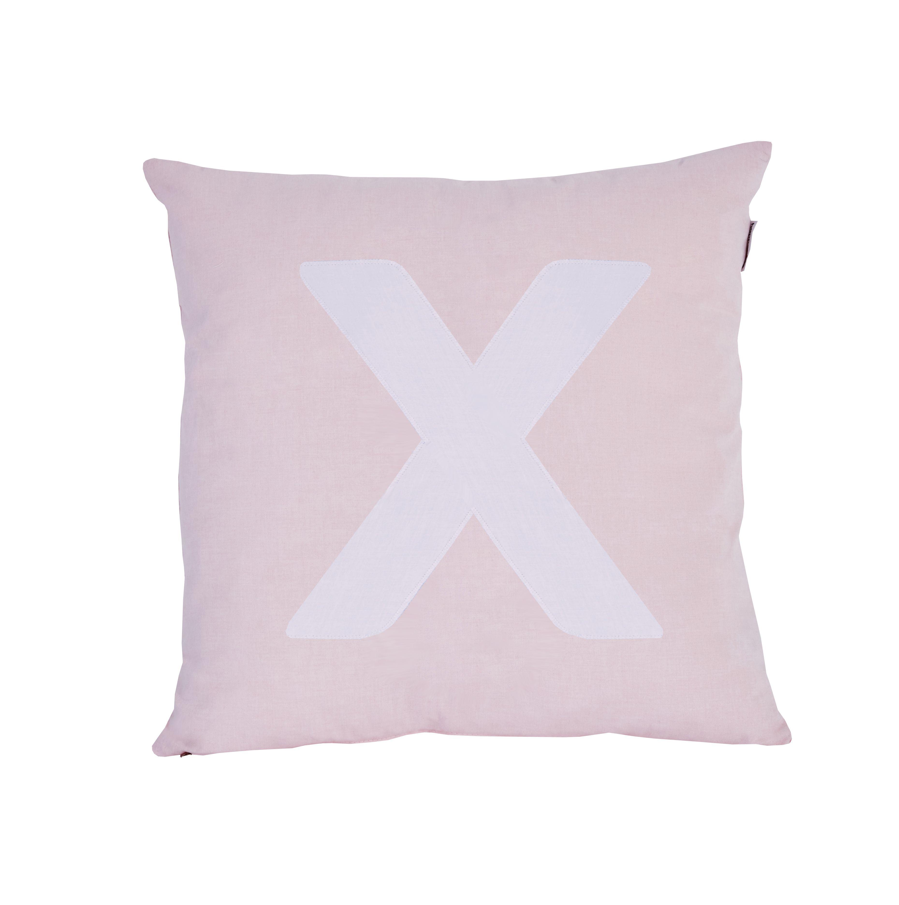 Pude Alphabet X lyserød fra Hoppekids