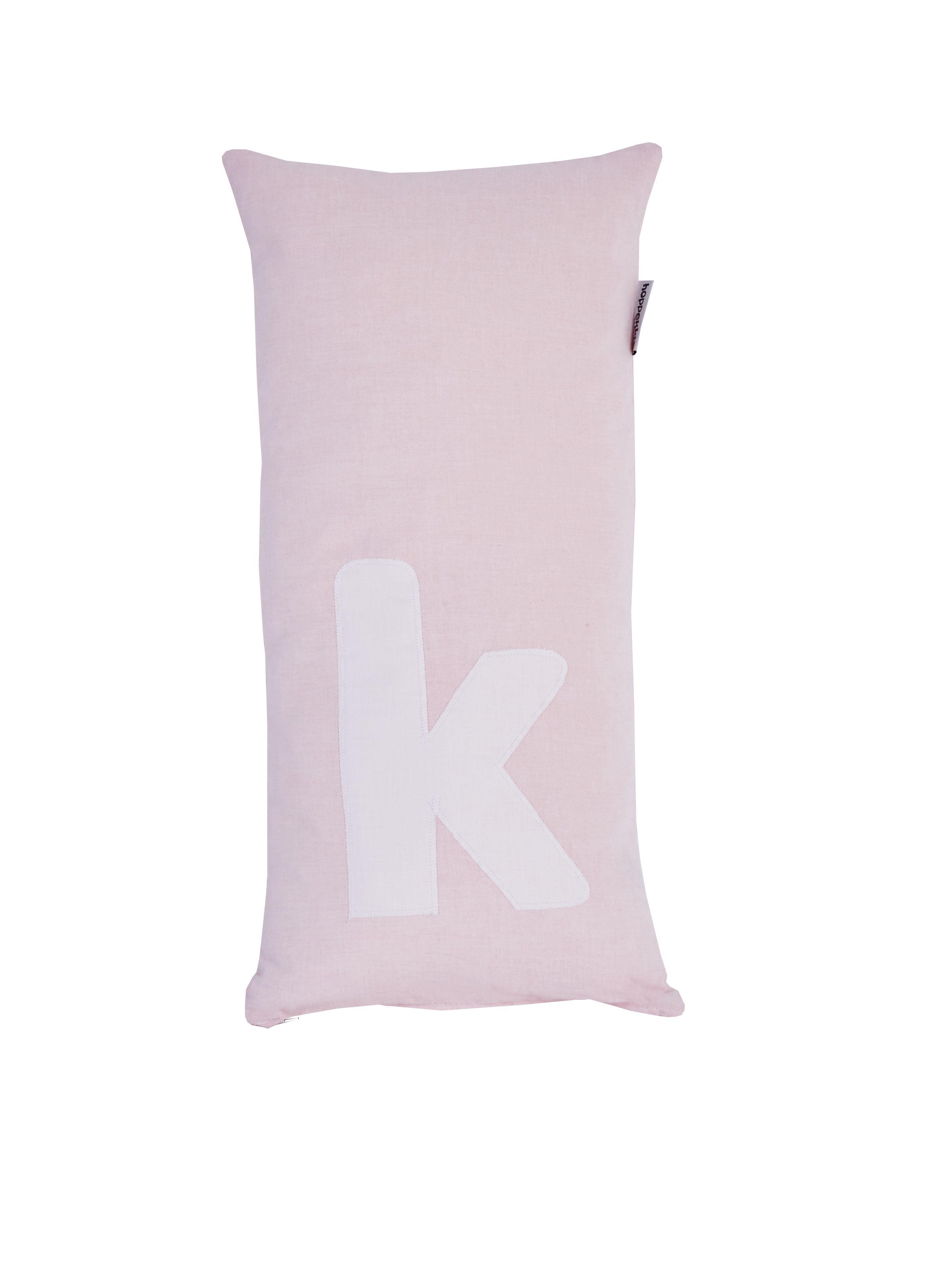 Image of   Pude Alphabet k lyserød fra Hoppekids