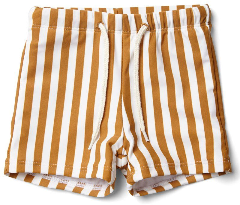 Image of Badeshorts fra Liewood i Mustard/Creme Stripe (LW12672-0905)