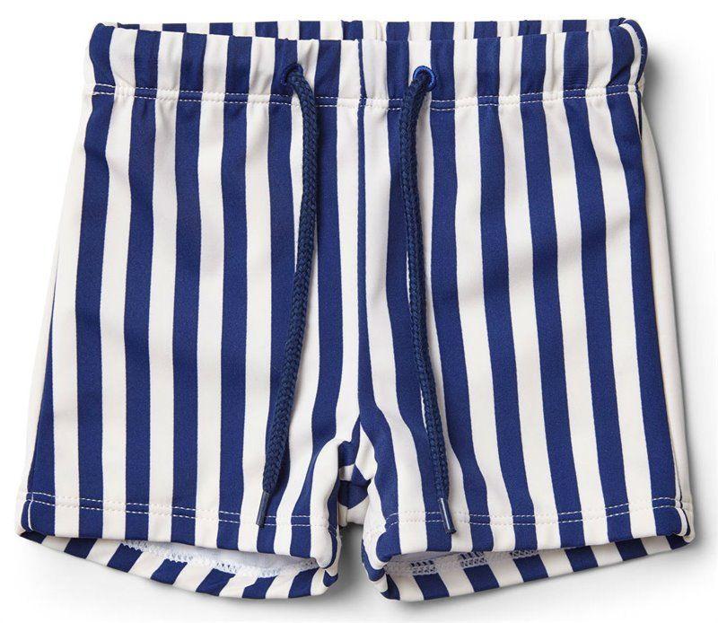 Image of Badeshorts fra Liewood i Navy/Creme Stripe (LW12672-0907)
