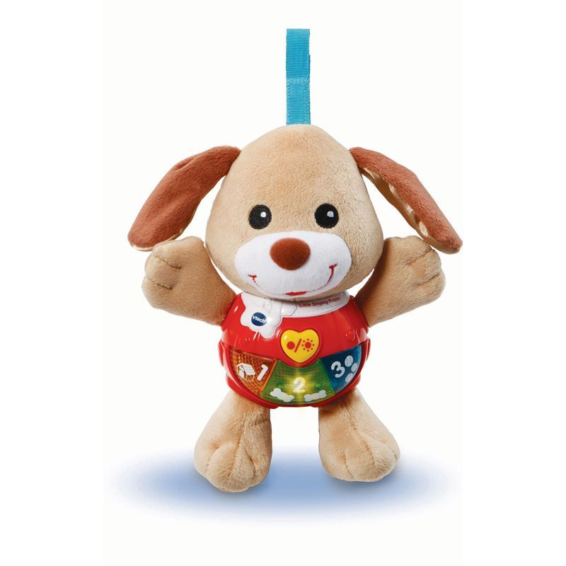 Image of Tøjdyr med lys og lyd fra VTech - Little Singing Puppy - Brun (VTC-TOY17)