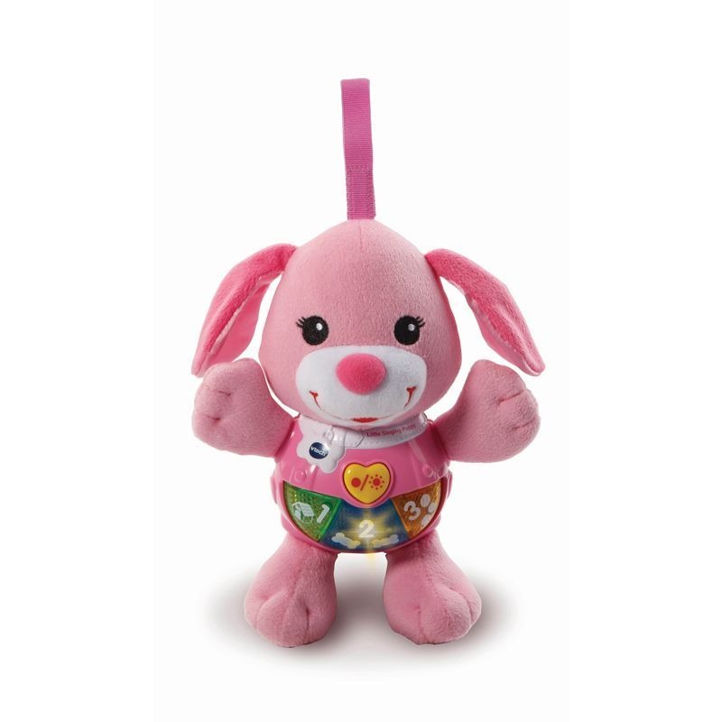 Image of Tøjdyr med lys og lyd fra VTech - Little Singing Puppy - Pink (VTC-TOY18)