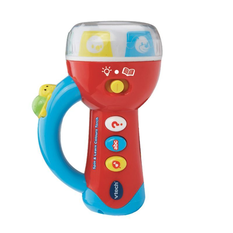 Image of Lygte med lys og lyd fra Vtech - Spin and Learn Colours Torch (VTC-TOY26)