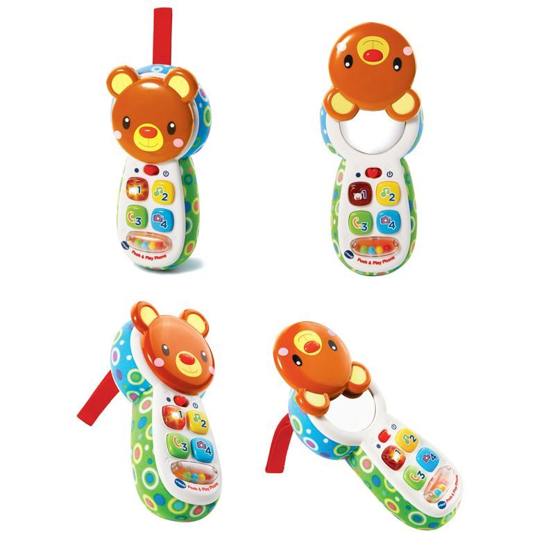 Image of Telefon fra VTech - Peek and Play telefon - Hvid (VTC-TOY31)
