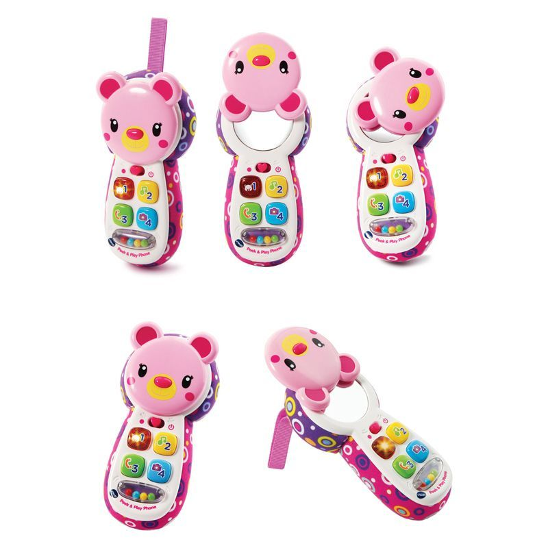 Image of Telefon fra VTech - Peek and Play telefon - Hvid (VTC-TOY32)