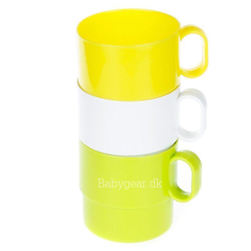 Billede af Plast krus m. hank - Stable kop - Blossom