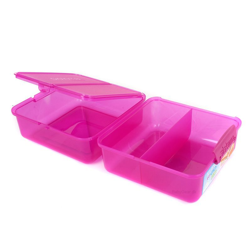 Madkasse Lunch Cube fra Sistema - Pink