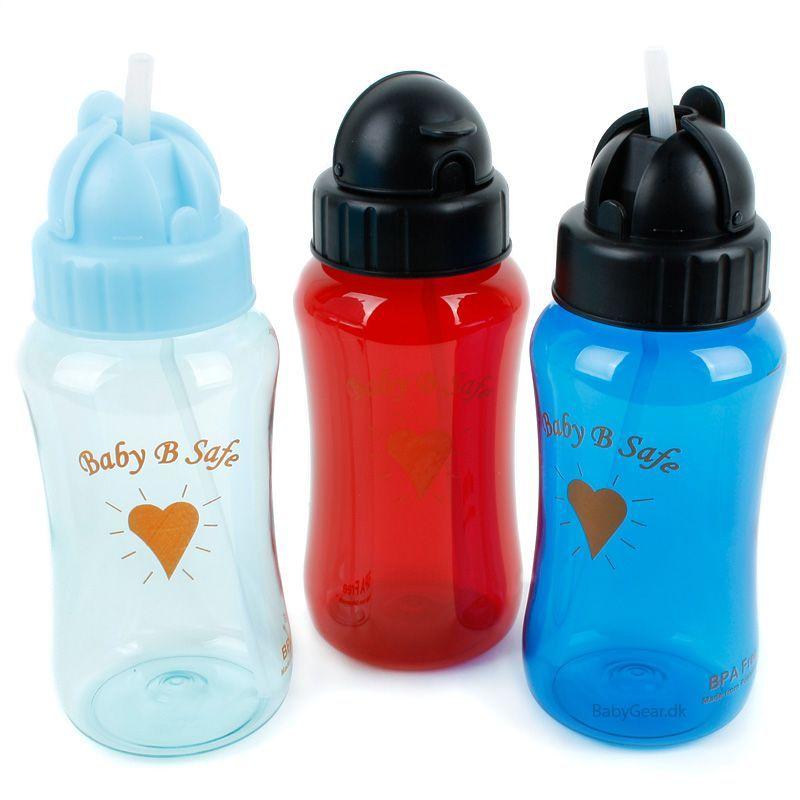 Baby b safe – Drikkeflaske med sugerør fra baby b safe (12+ mdr.) fra babygear.dk