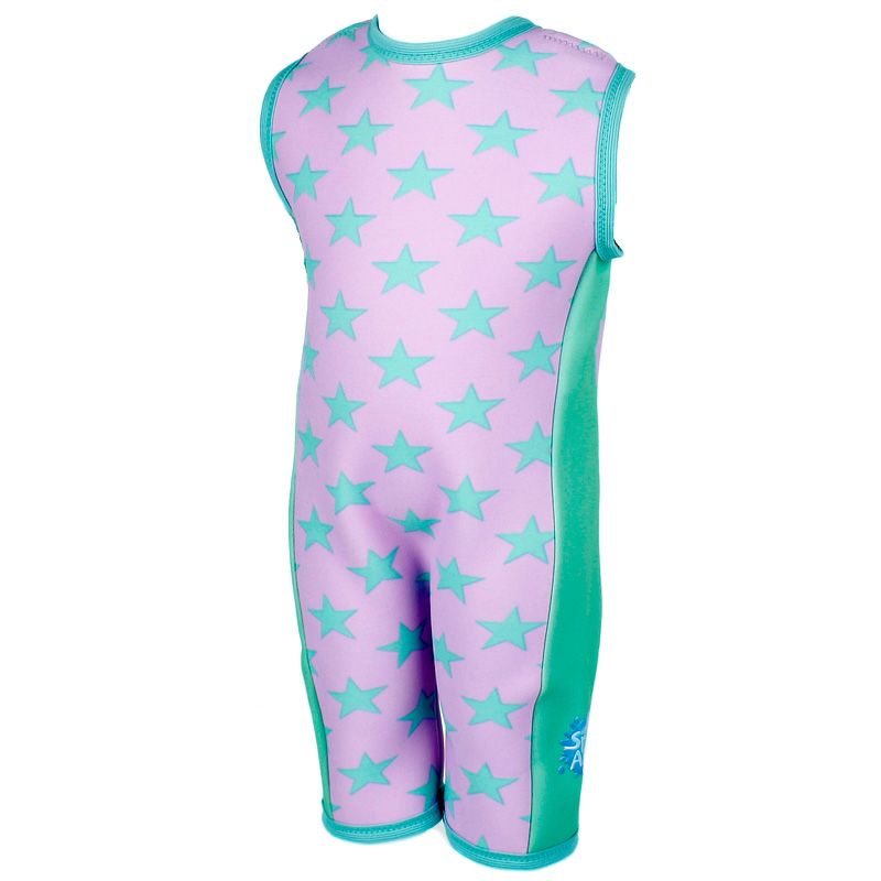Image of Våddragt / Combie fra Splash About - Lilac with Mint Stars (combie_lilac_stars)