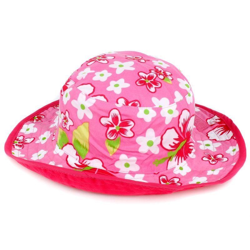 Baby banz Solhat (vendbar) - baby banz - pink hawaii på babygear.dk
