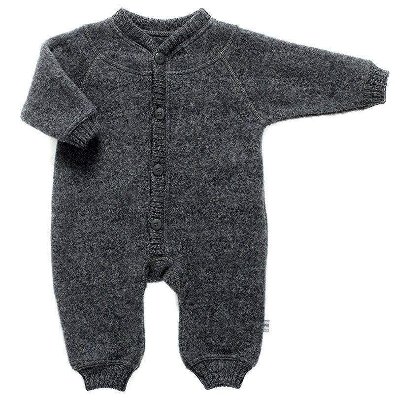 Image of   Soft wool køredragt m. knapper fra Joha - Koksgrå