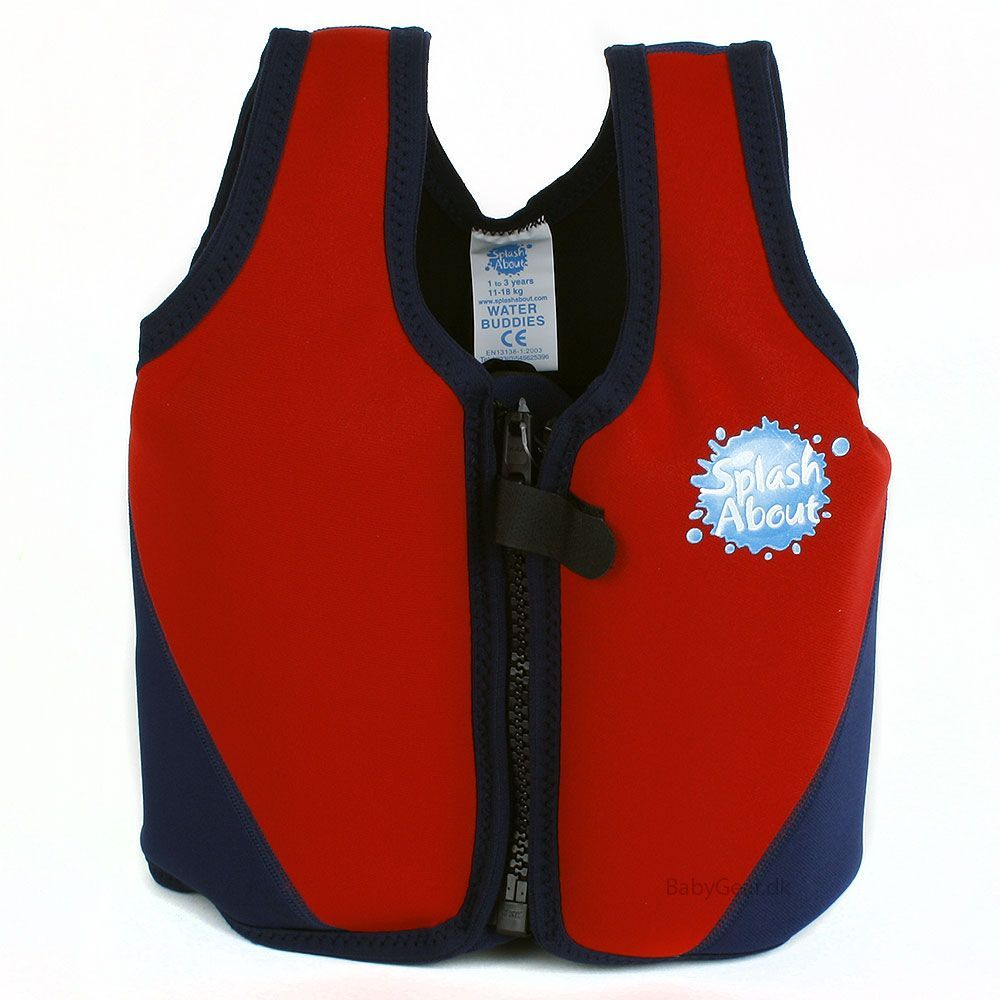 Image of   Flydejakke / Float Jacket fra Splash About - Red and Navy