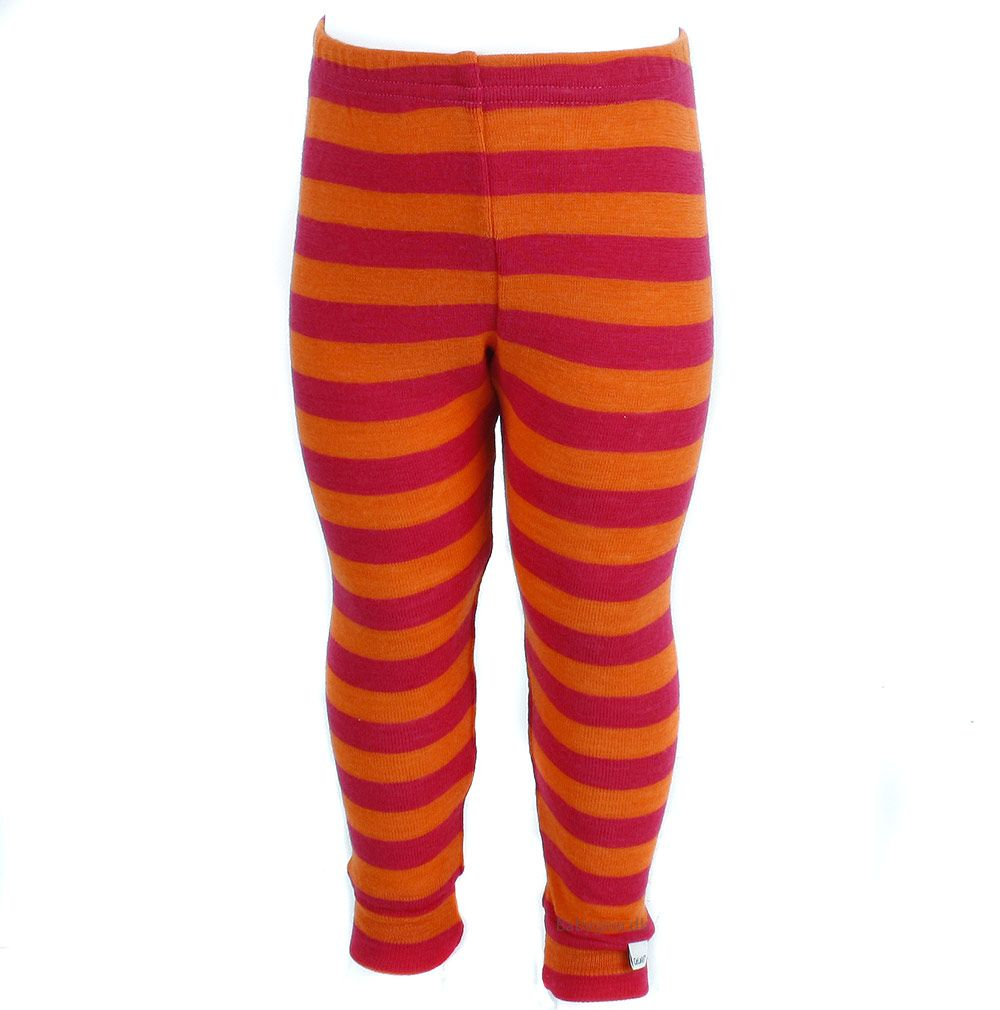 Celavi Uld leggings / natbukser fra celavi - bright rose på babygear.dk