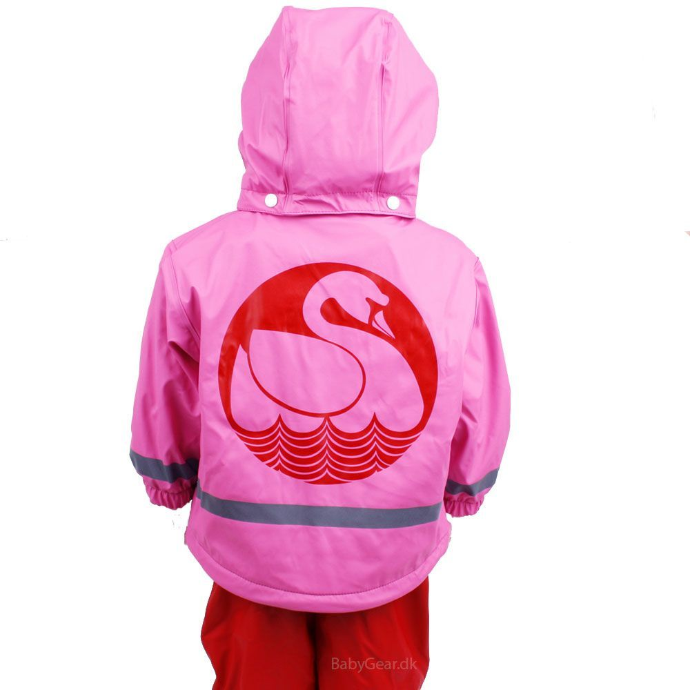 Image of Regntøj m. thermofoer fra Danefæ - Fluo Pink/Red Swan (fluo_pink_)