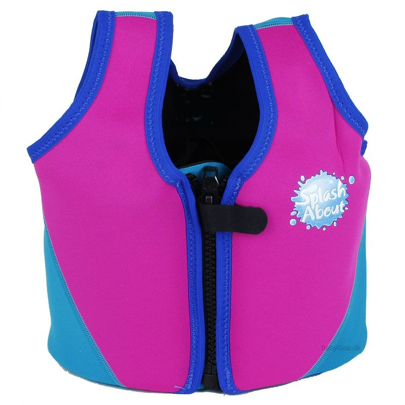Image of   Flydejakke / Float Jacket fra Splash About - Pink og Turkis