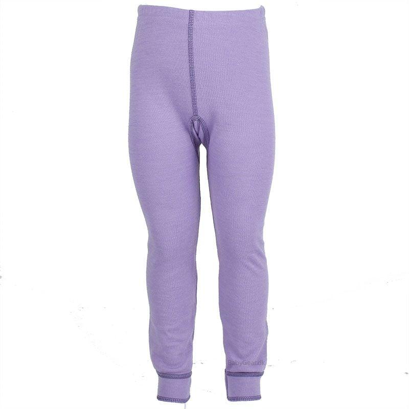 Uld leggings / natbukser fra Joha - Uld / Bomuld - Lilla