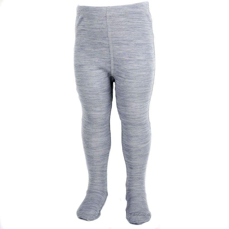 Image of   Leggings m. fod fra Joha - Uld/bomuld - Gråmeleret